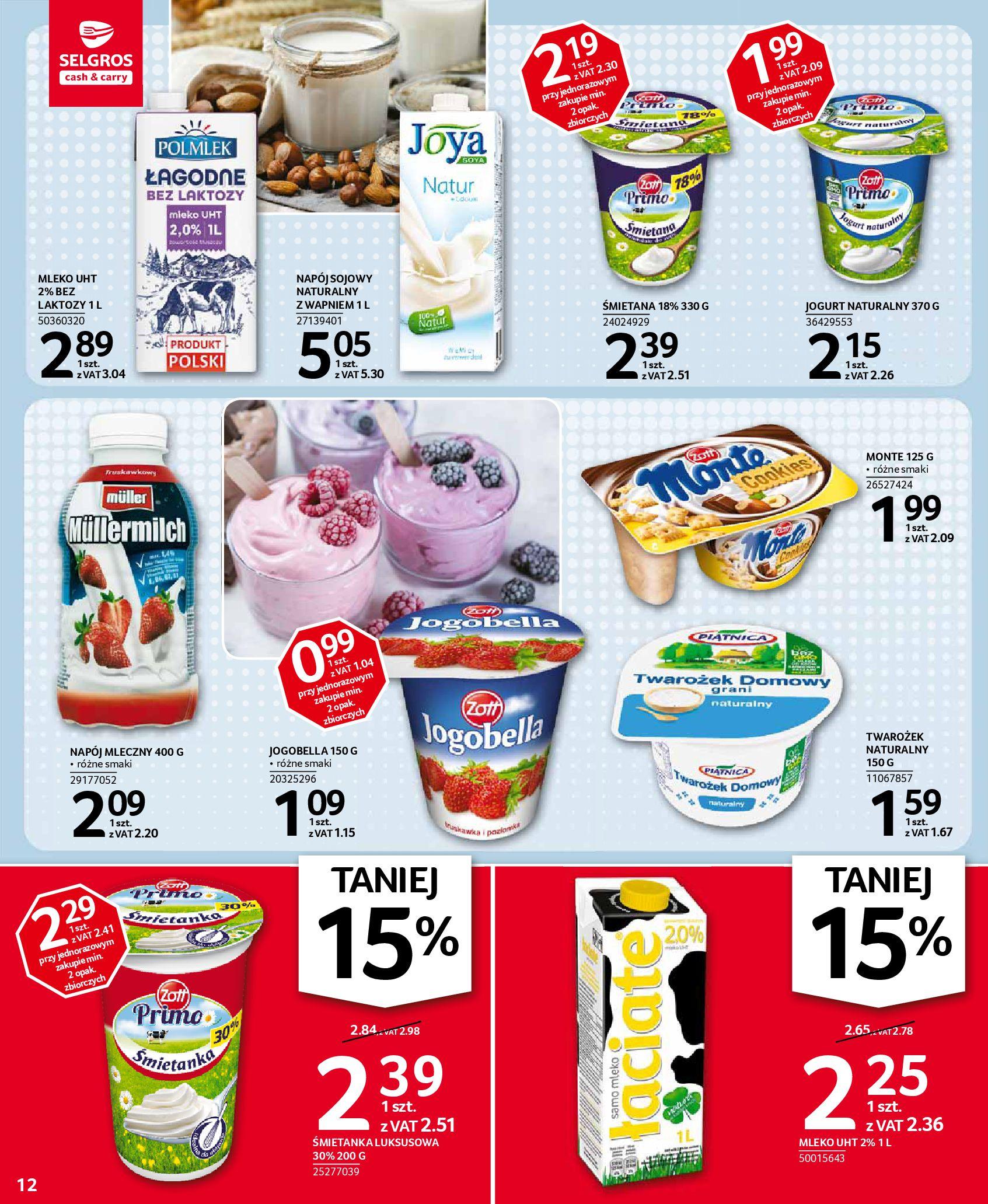 Gazetka Selgros: Oferta spożywcza 2021-01-07 page-12