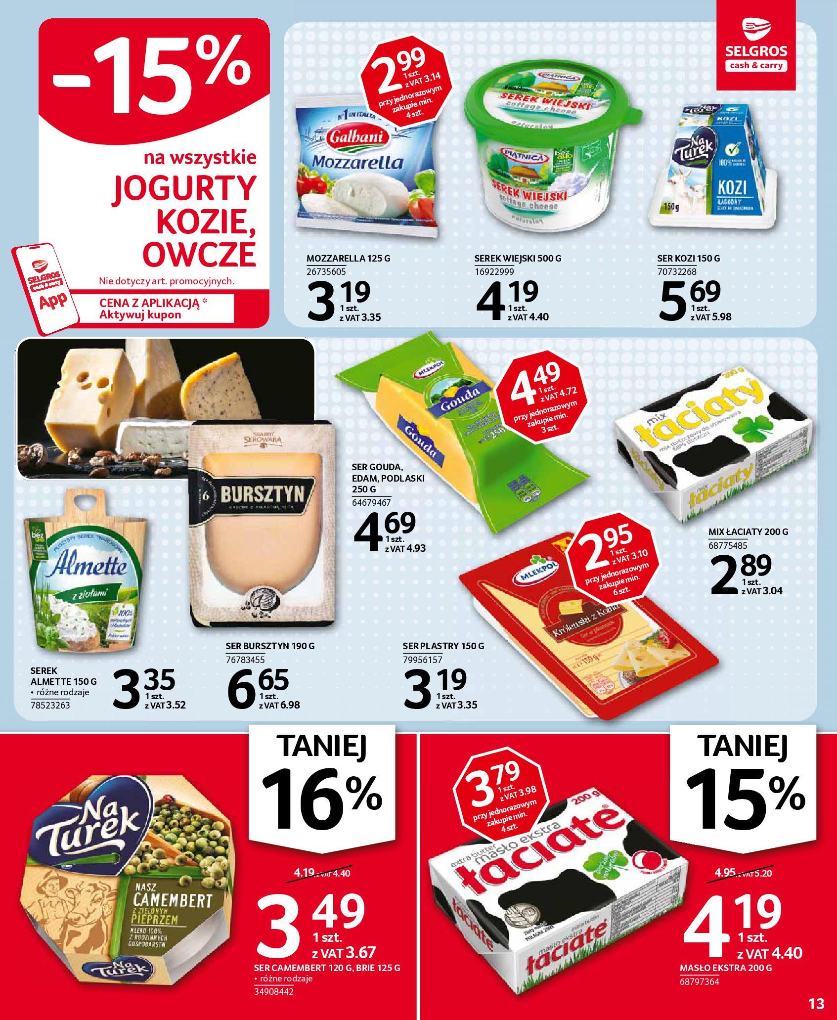 Gazetka Selgros: Oferta spożywcza 2021-01-07 page-13
