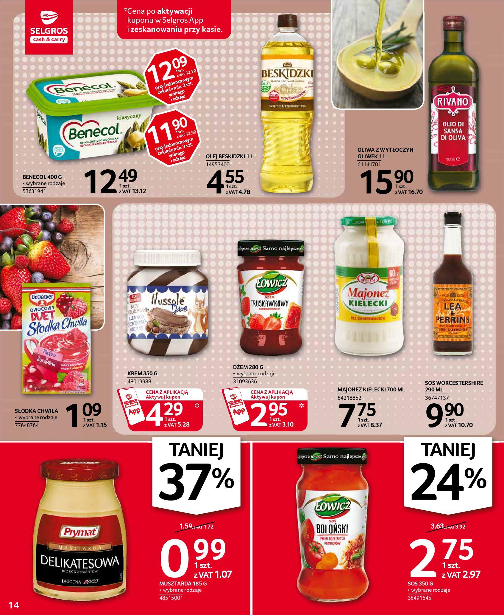 Gazetka Selgros: Oferta spożywcza 2021-01-07 page-14