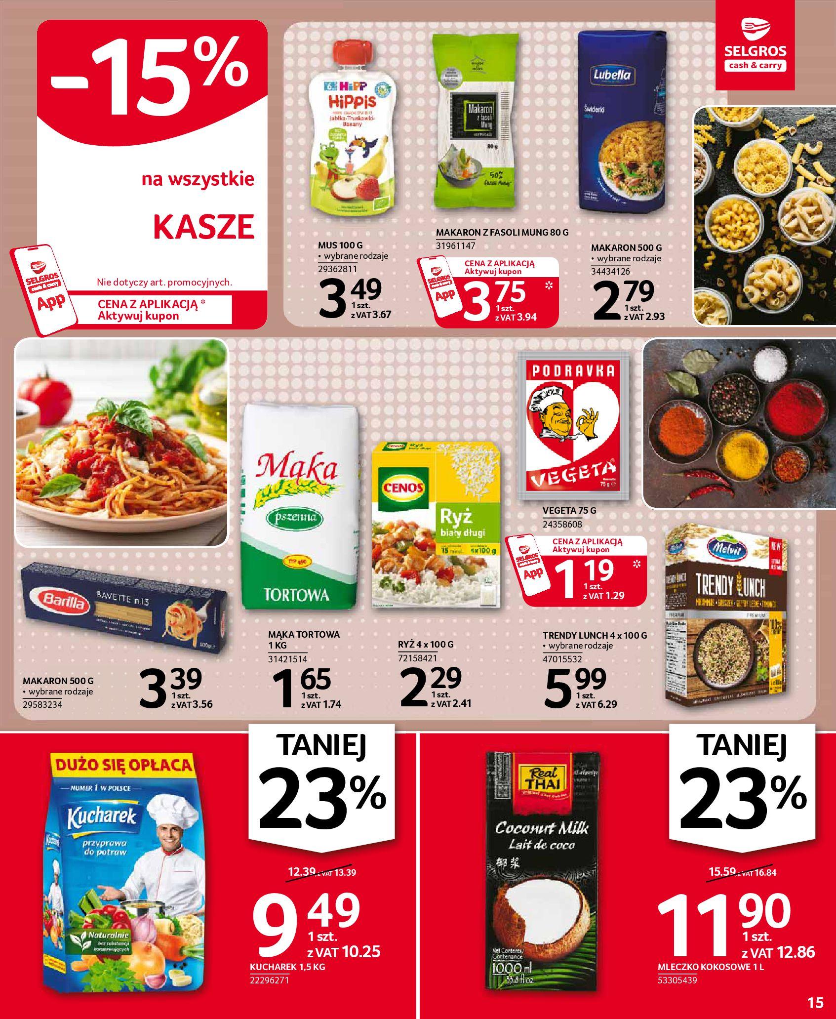Gazetka Selgros: Oferta spożywcza 2021-01-07 page-15