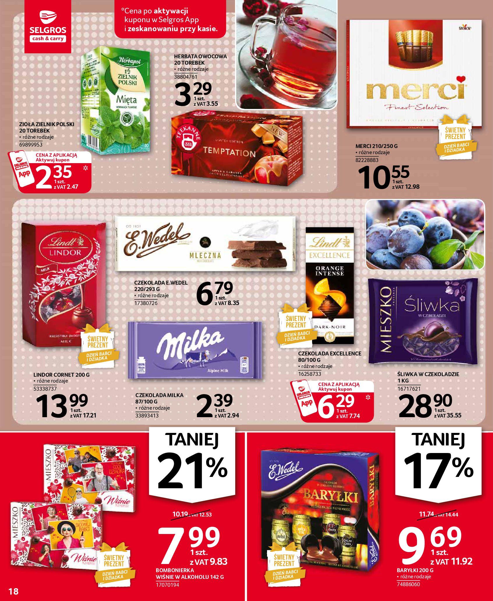 Gazetka Selgros: Oferta spożywcza 2021-01-07 page-18