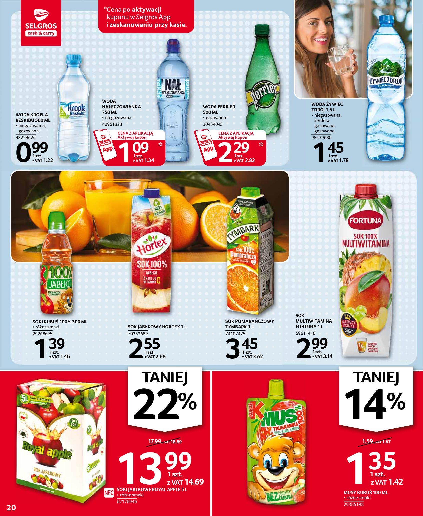 Gazetka Selgros: Oferta spożywcza 2021-01-07 page-20