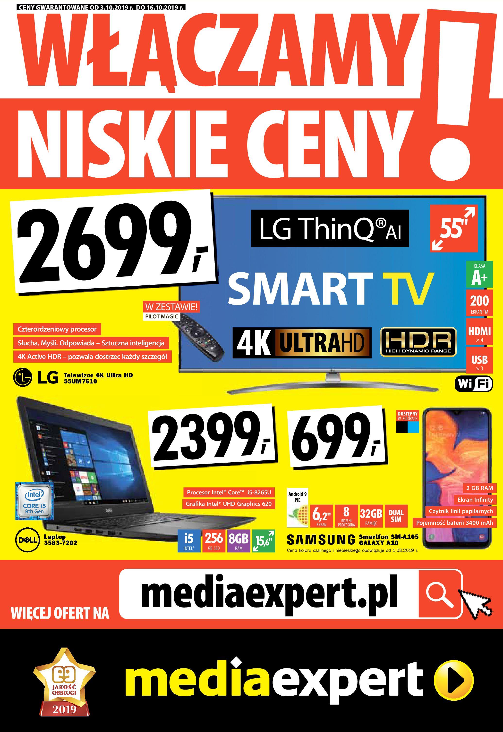 Gazetka Media Expert - WŁĄCZAMY NISKIE CENY!-02.10.2019-16.10.2019-page-1