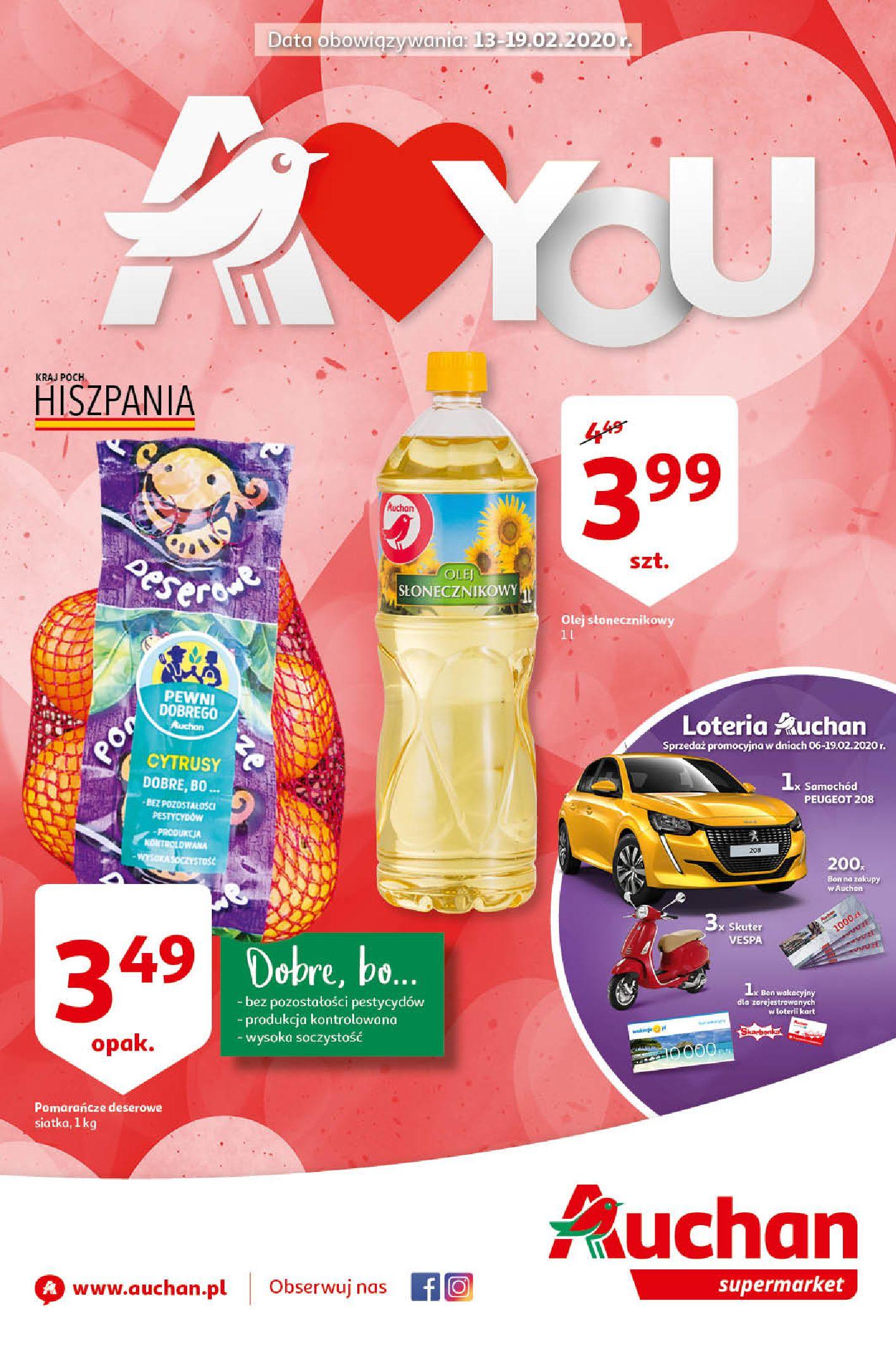 Gazetka Auchan - Oferta Auchan Supermarket 13-19.02.2020-12.02.2020-19.02.2020-page-1