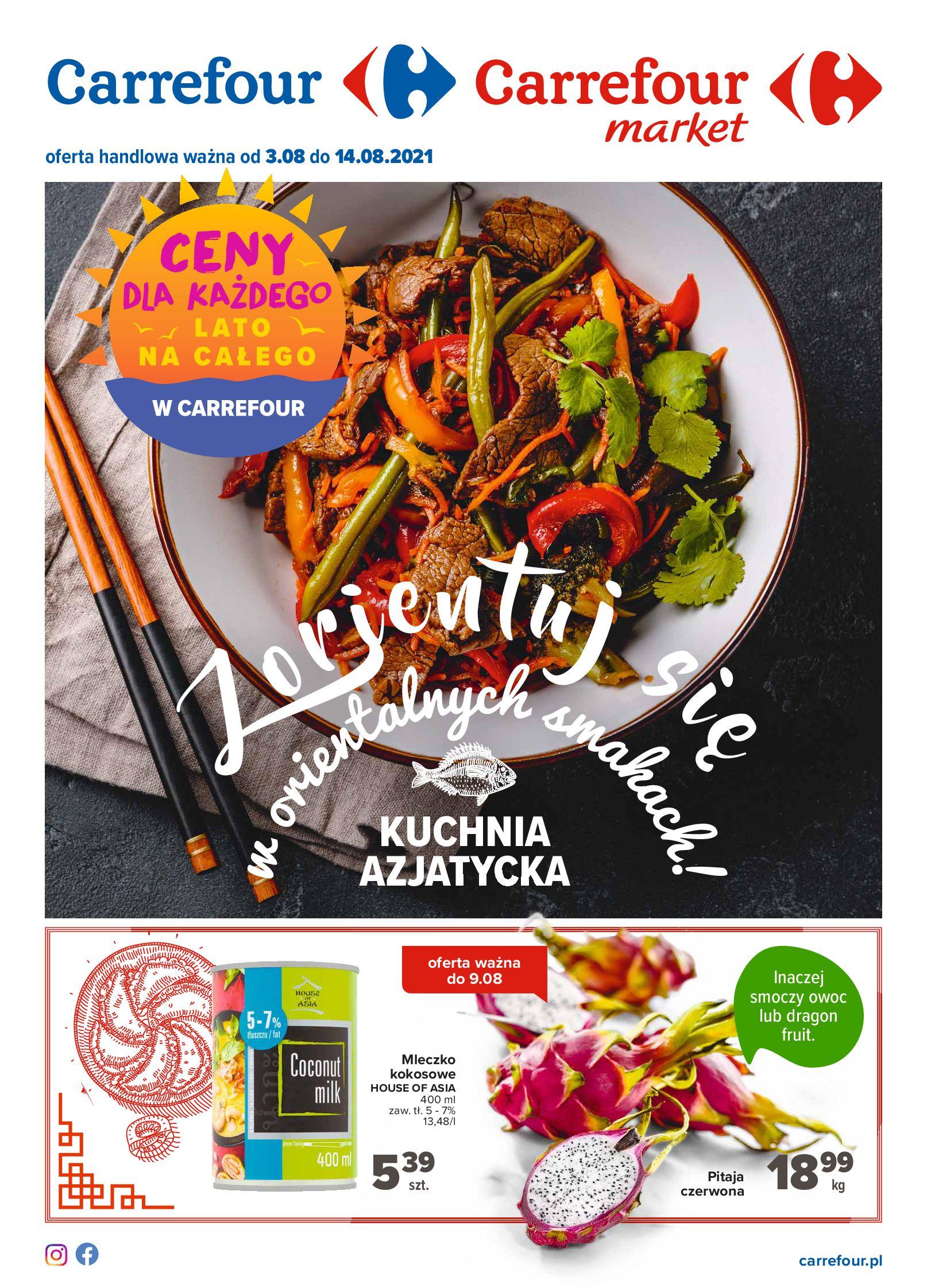 Carrefour:  Gazetka Carrefour - Kuchnia azjatycka 02.08.2021