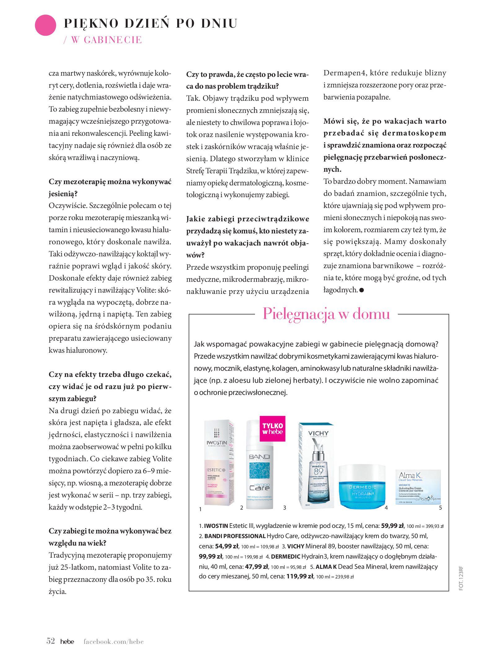 Gazetka hebe: Magazyn hebe - TURBO nawilżanie po urlopie 2021-09-01 page-52