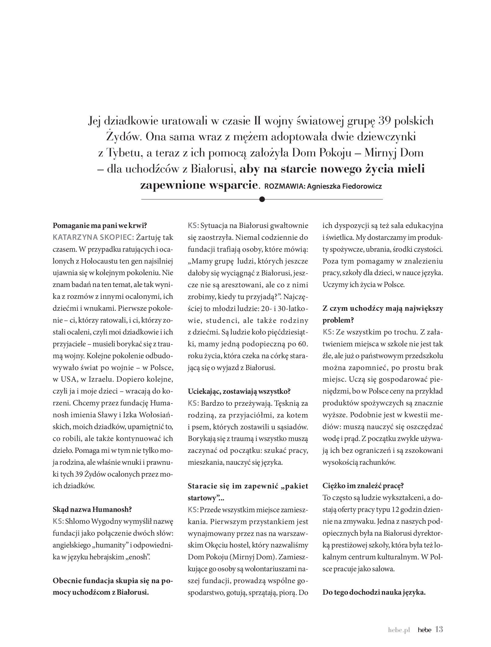 Gazetka hebe: Magazyn hebe - TURBO nawilżanie po urlopie 2021-09-01 page-13