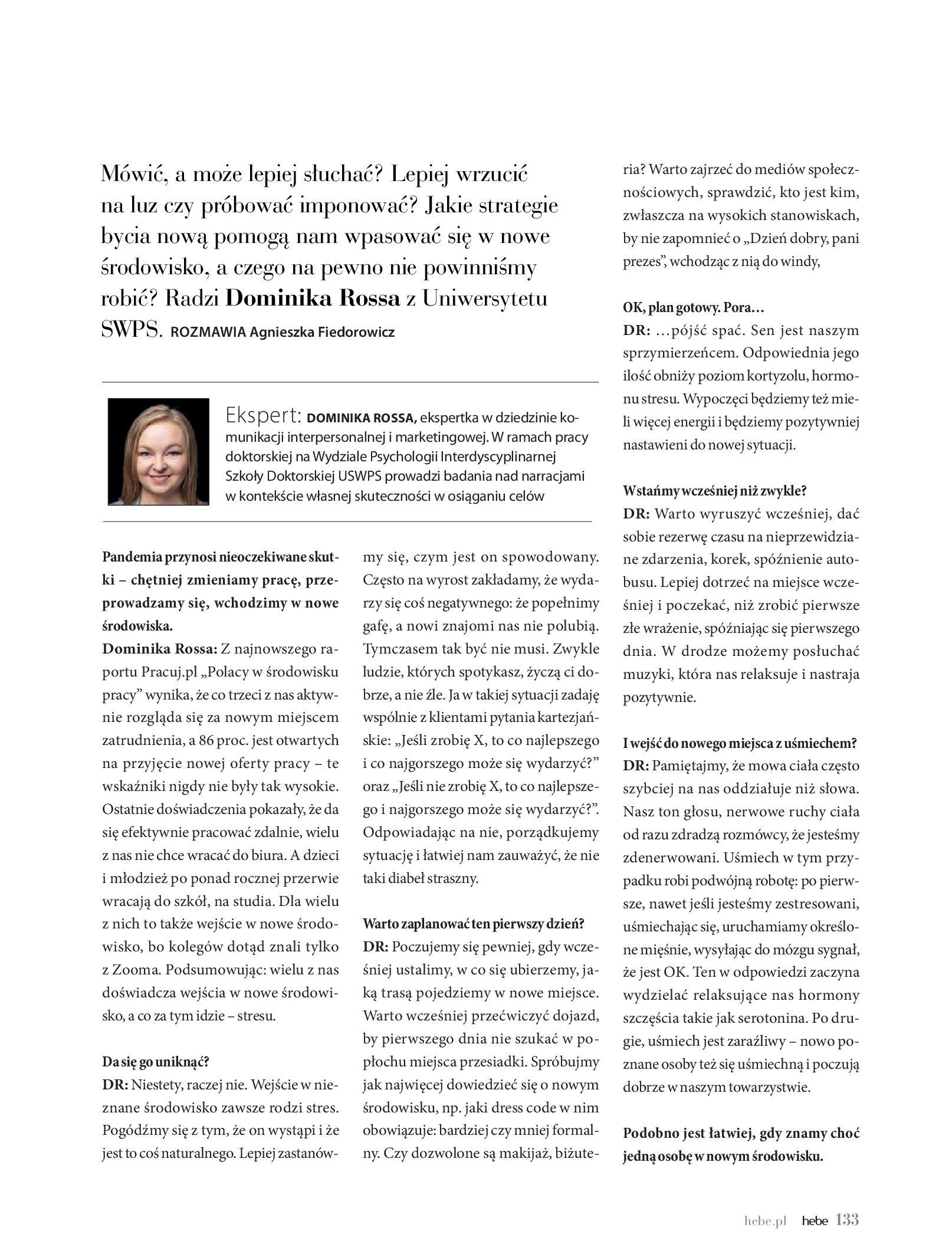 Gazetka hebe: Magazyn hebe - TURBO nawilżanie po urlopie 2021-09-01 page-133