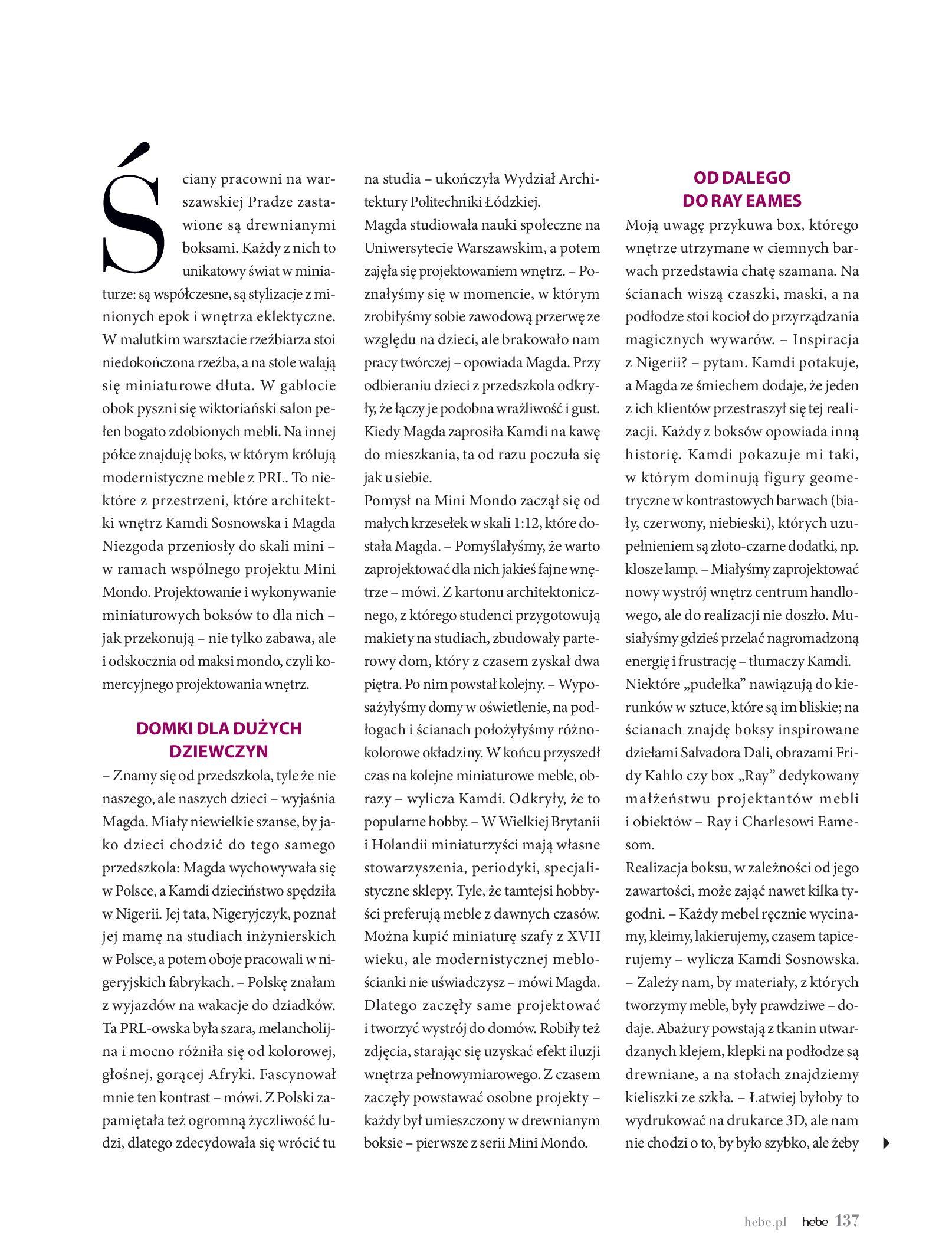 Gazetka hebe: Magazyn hebe - TURBO nawilżanie po urlopie 2021-09-01 page-137