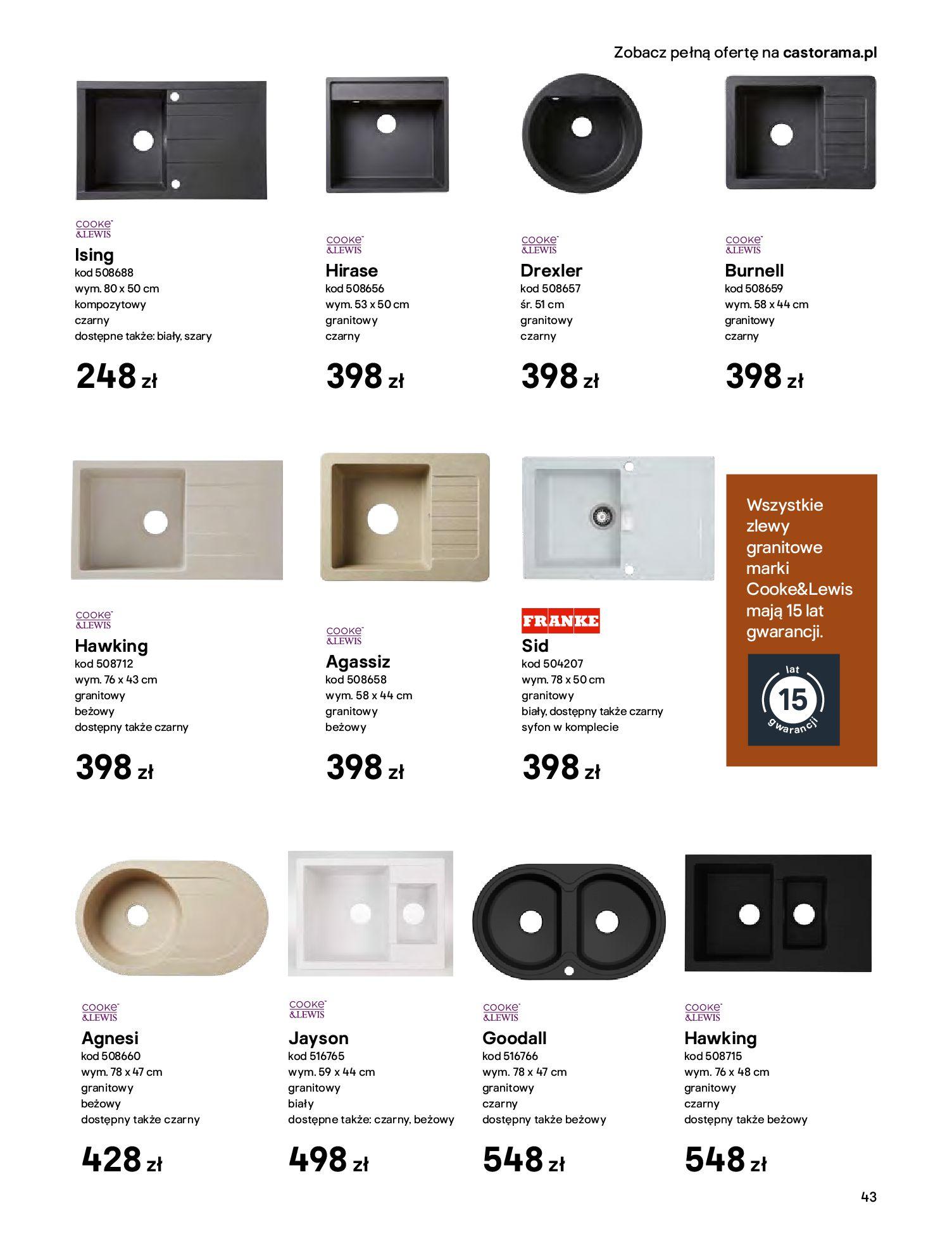 Gazetka Castorama - Katalog Kuchnie 2020-14.04.2020-31.12.2020-page-43