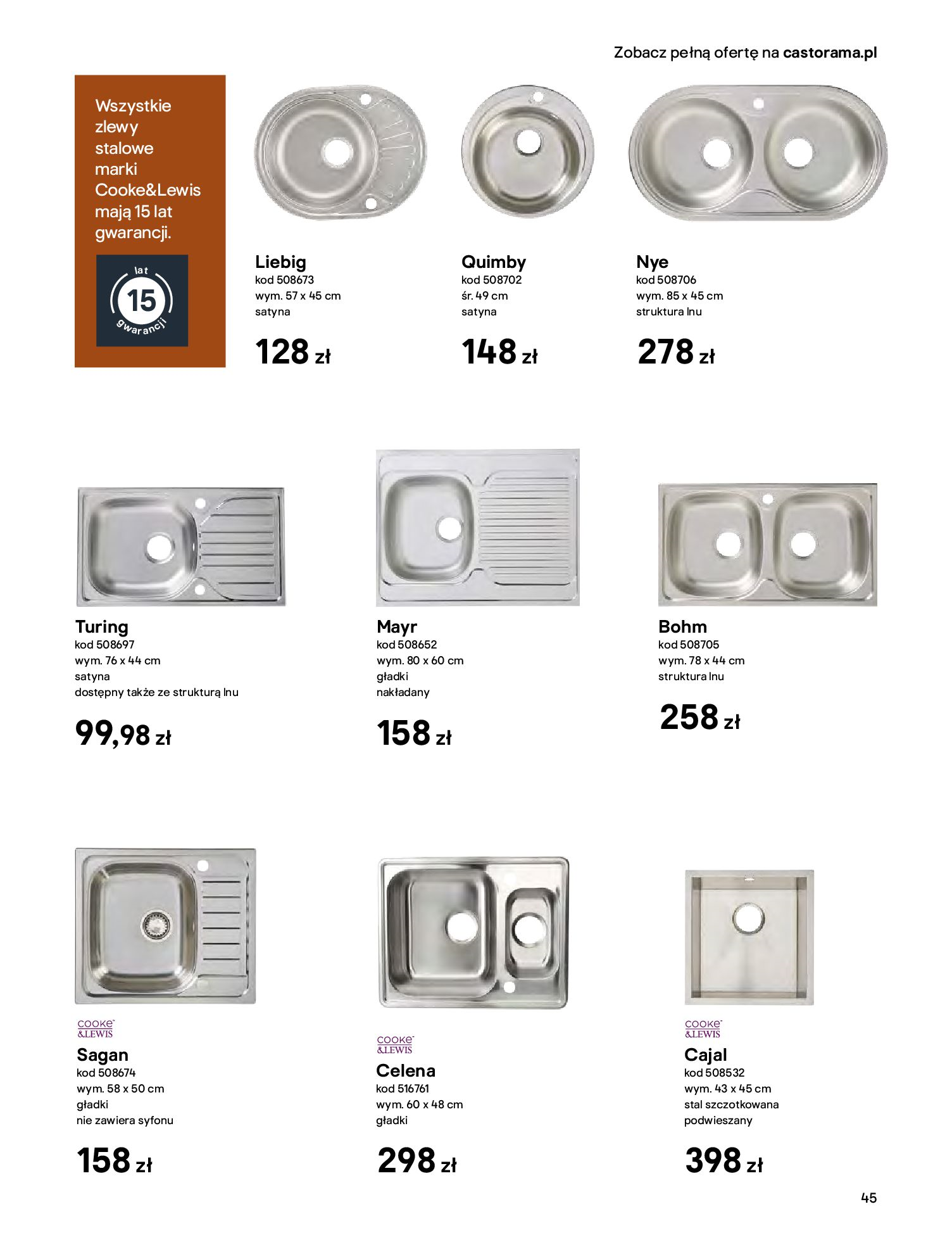 Gazetka Castorama - Katalog Kuchnie 2020-14.04.2020-31.12.2020-page-45