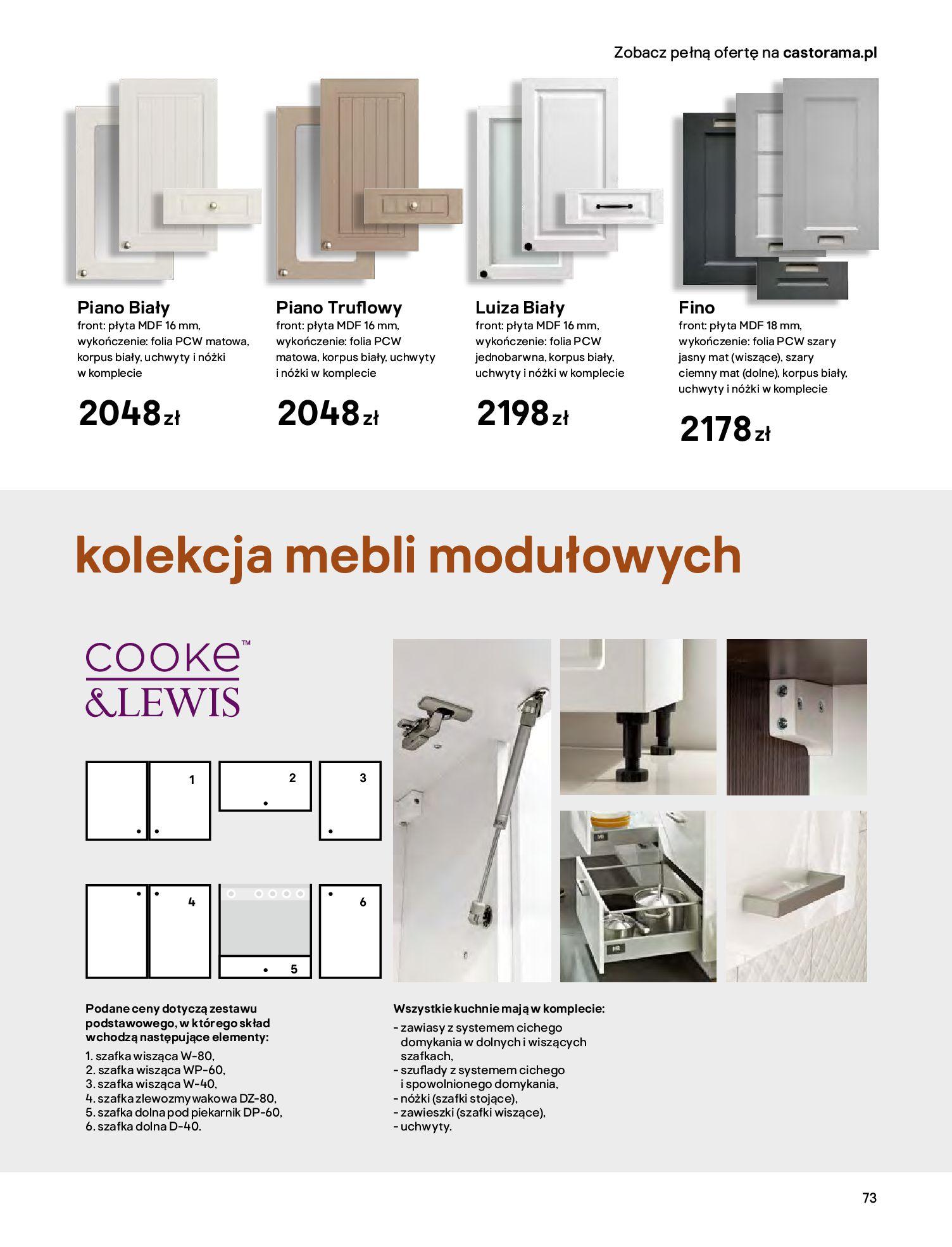 Gazetka Castorama - Katalog Kuchnie 2020-14.04.2020-31.12.2020-page-73