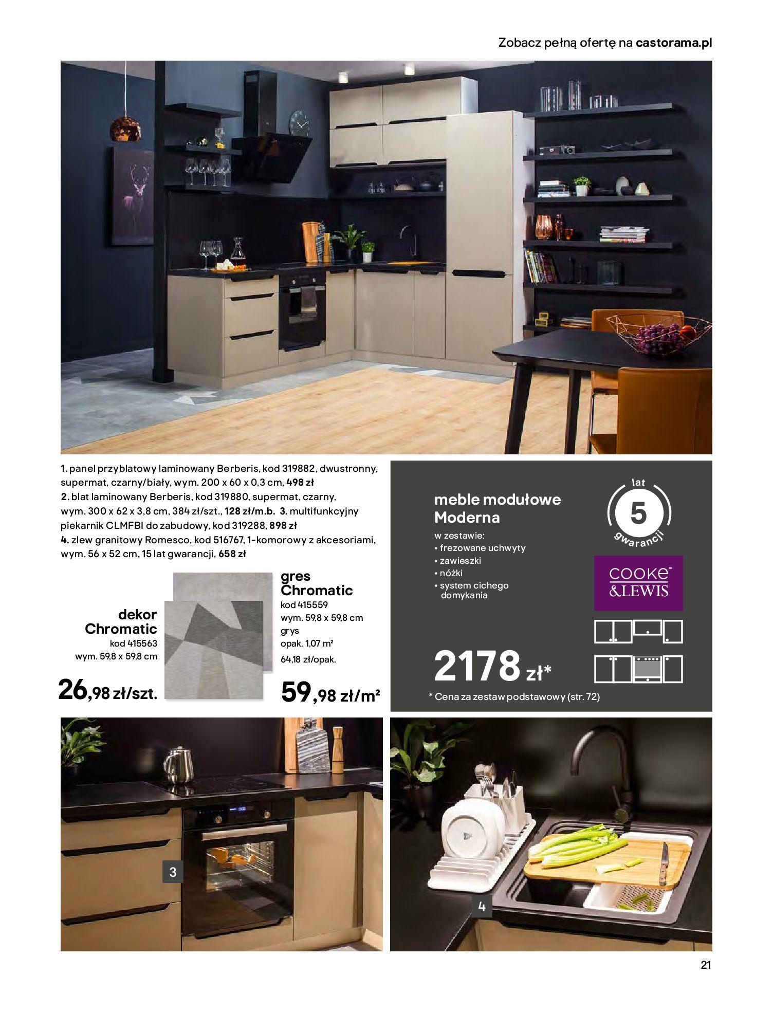 Gazetka Castorama - Katalog Kuchnie 2020-14.04.2020-31.12.2020-page-21