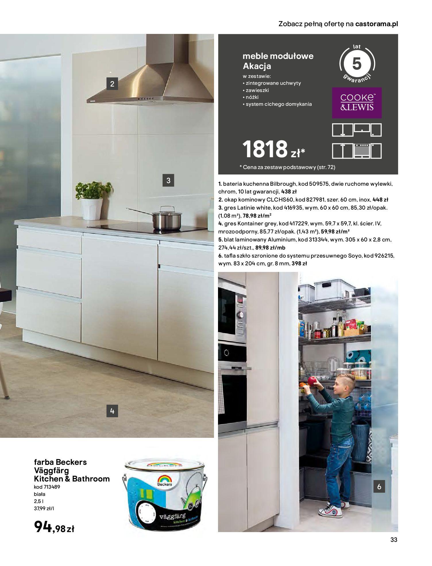 Gazetka Castorama - Katalog Kuchnie 2020-14.04.2020-31.12.2020-page-33