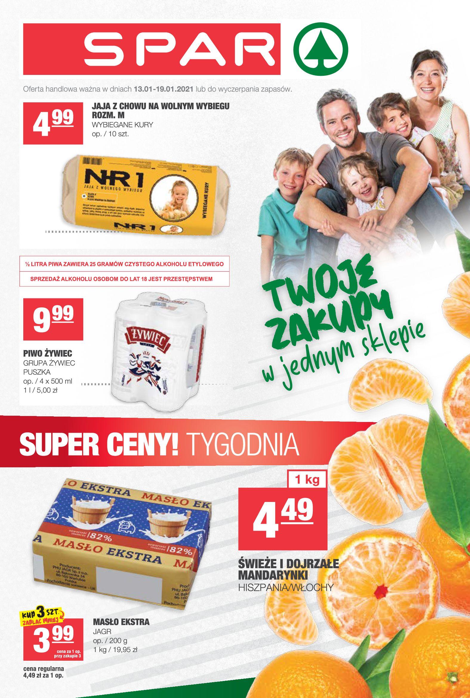 Gazetka Spar: Gazetka promocyjna 2021-01-13 page-1