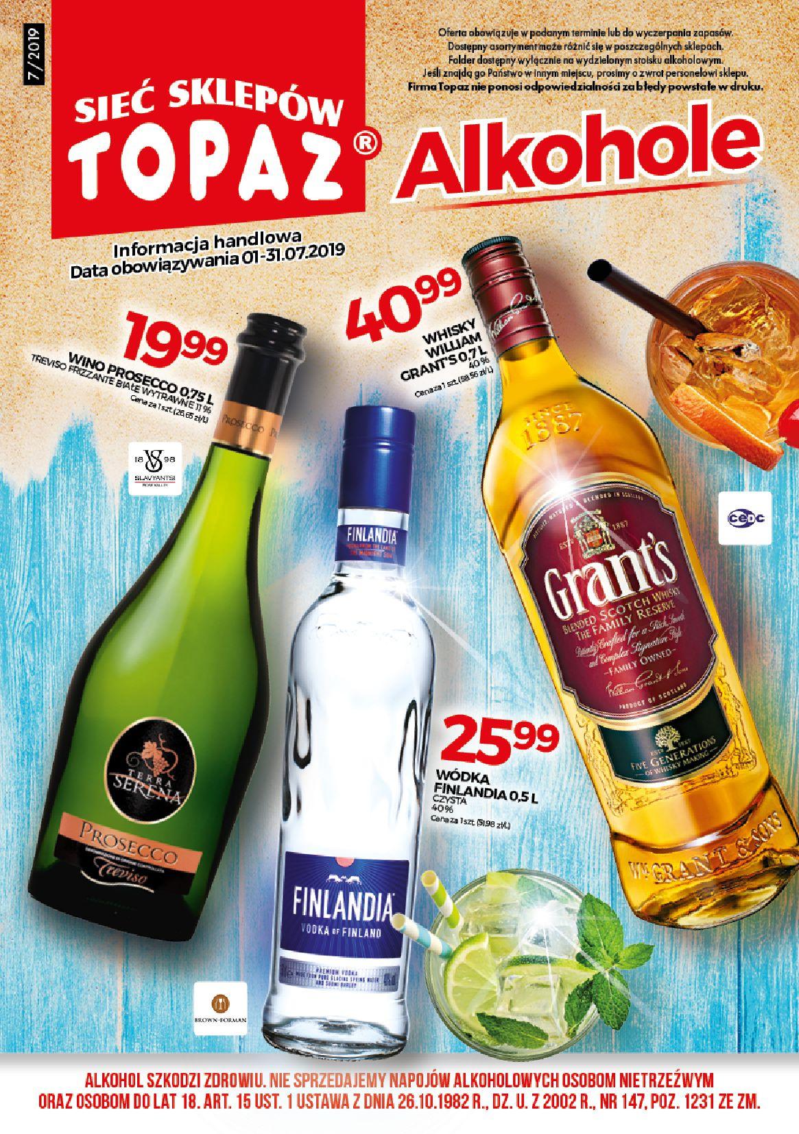 Gazetka TOPAZ - Alkohole-30.06.2019-31.07.2019-page-1