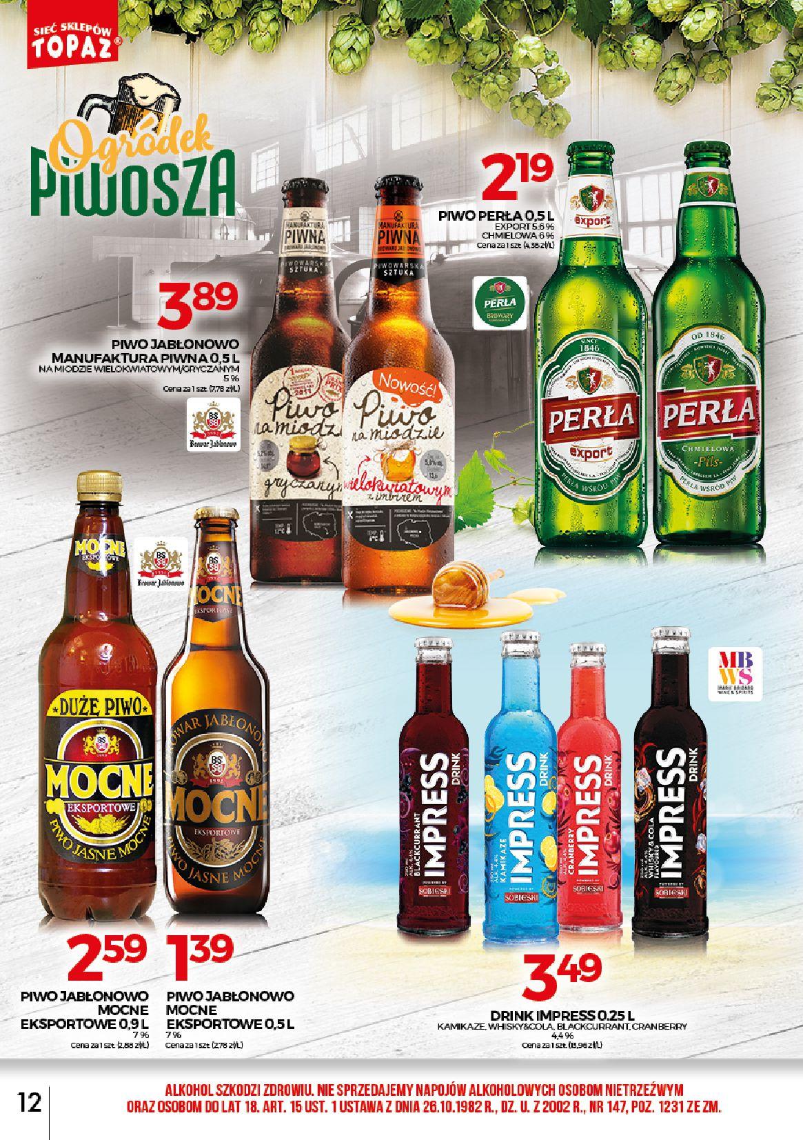 Gazetka TOPAZ - Alkohole-30.06.2019-31.07.2019-page-12