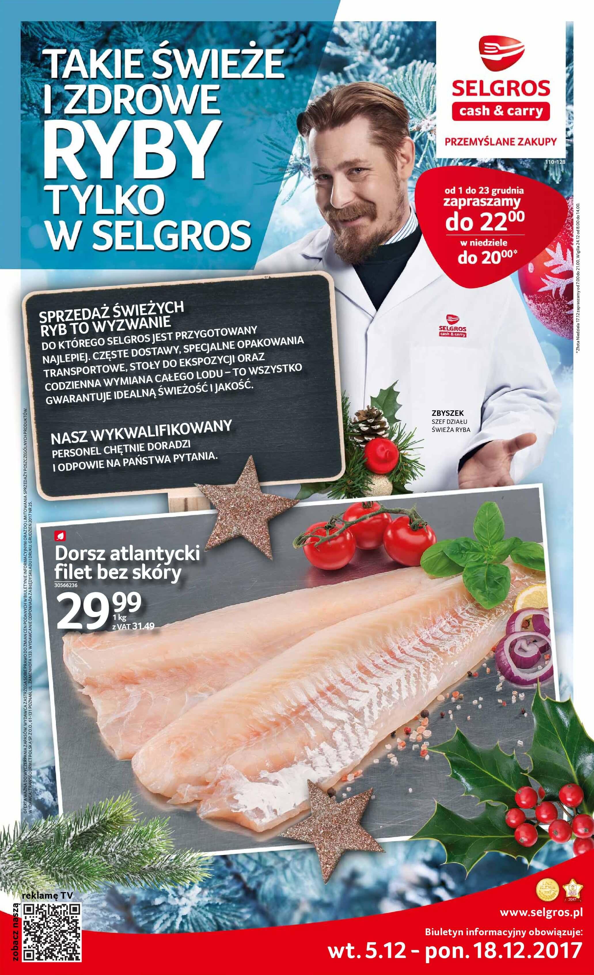 Gazetka Selgros - Świeże i zdrowe ryby-2017-12-04-2017-12-18-page-1