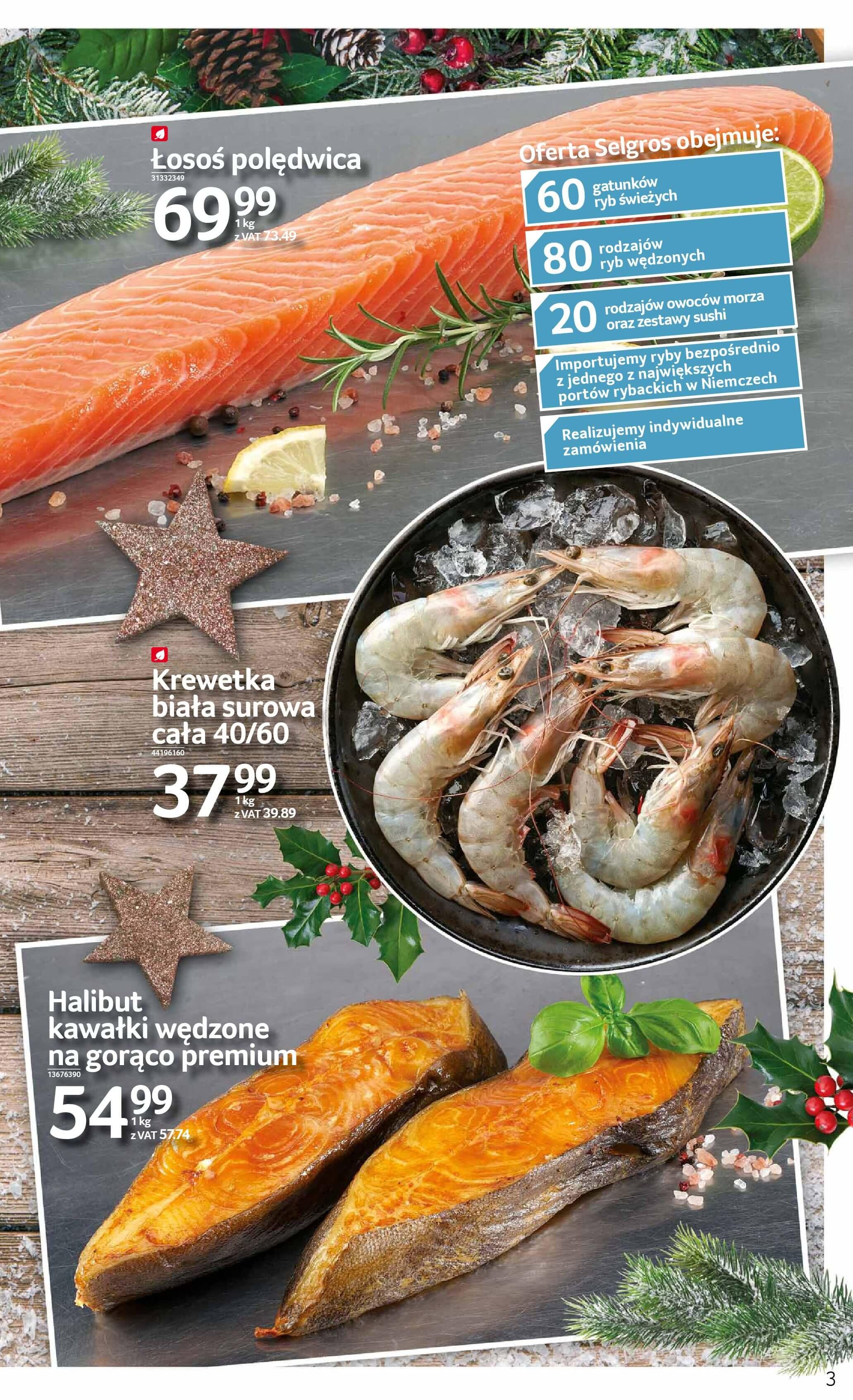 Gazetka Selgros - Świeże i zdrowe ryby-2017-12-04-2017-12-18-page-3
