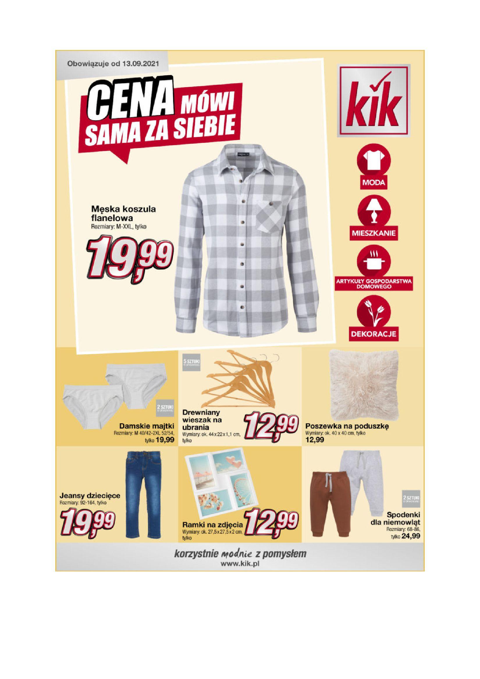 KiK:  Gazetka KiK - Moda jesienna 12.09.2021
