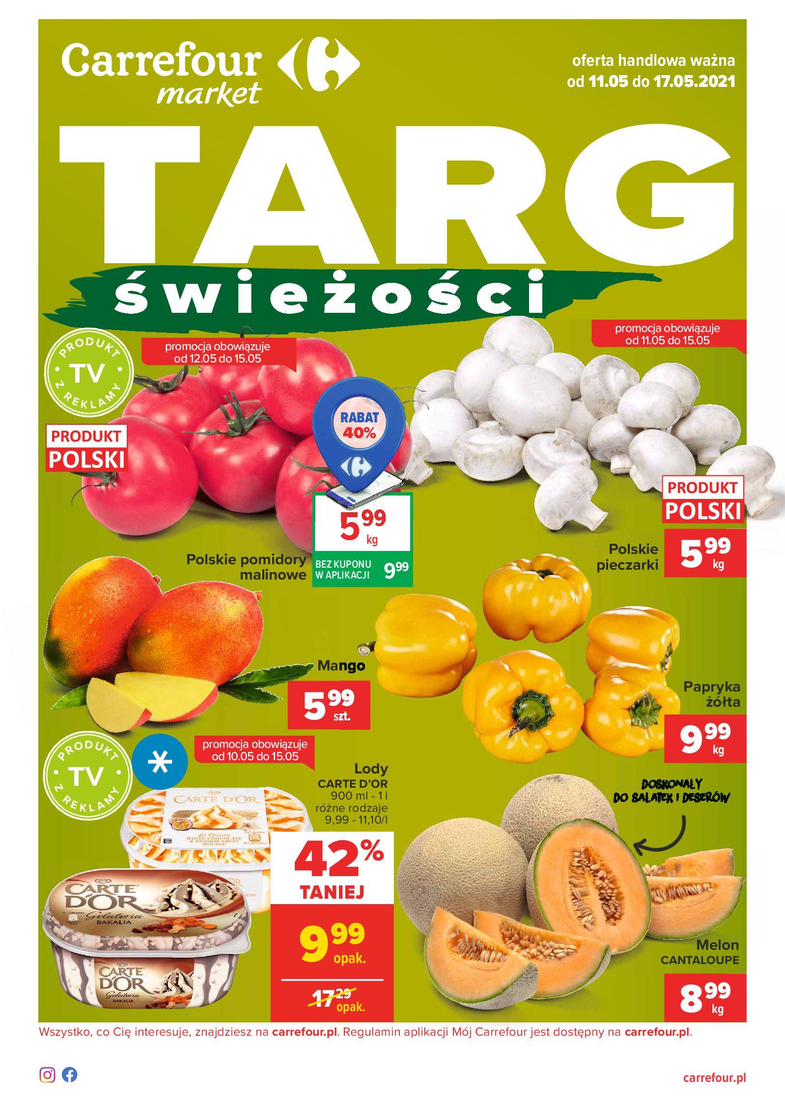 Carrefour Market:  Gazetka Carrefour Market -  Targ świeżości 10.05.2021