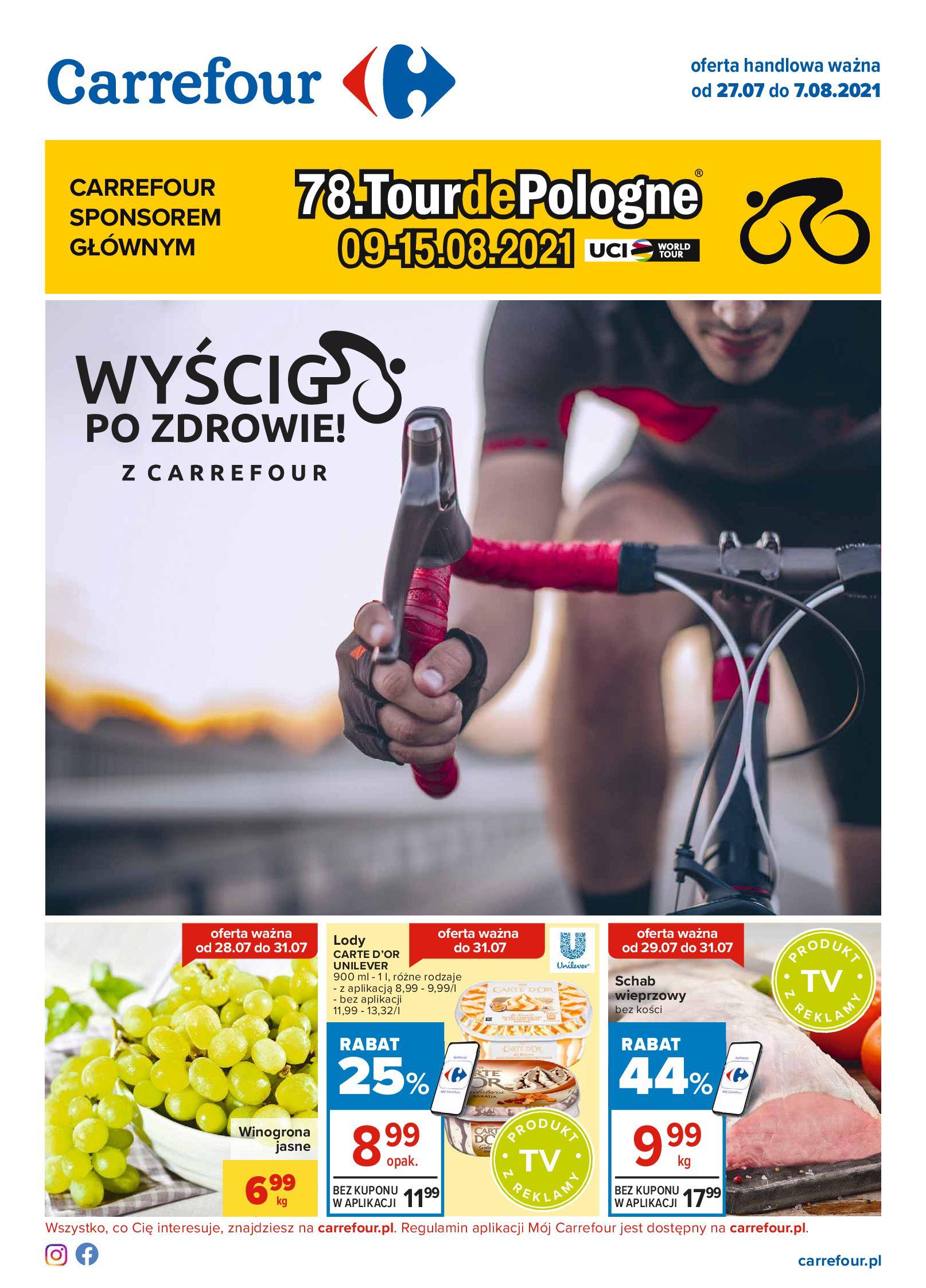 Carrefour:  Gazetka Carrefour - Oferta handlowa 26.07.2021