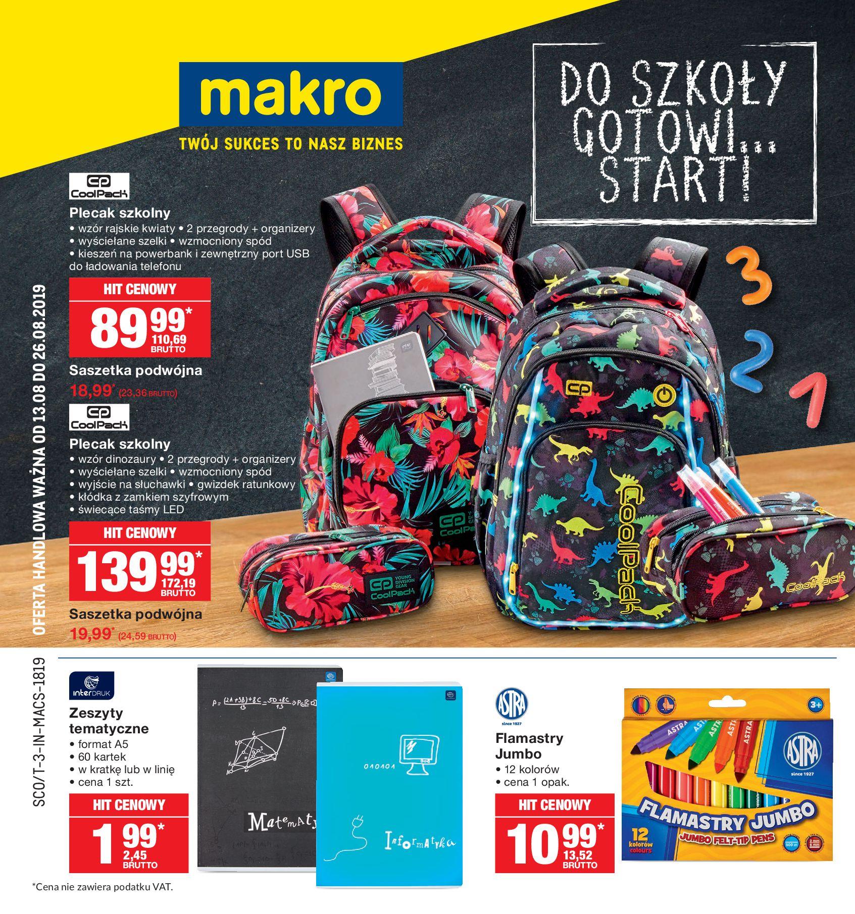 Gazetka Makro - Do szkoły, gotowi, start!-12.08.2019-26.08.2019-page-1