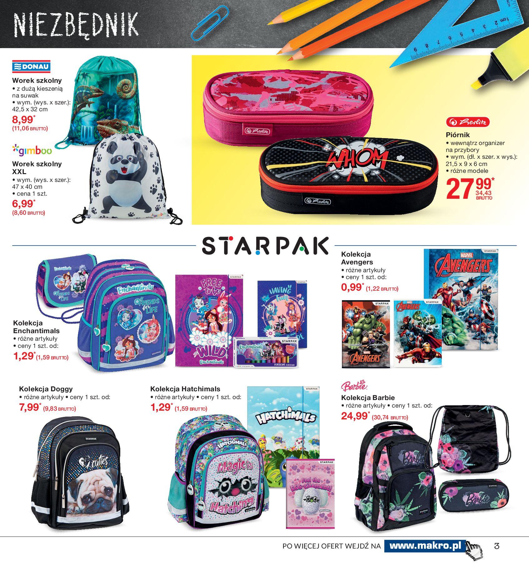 Gazetka Makro - Do szkoły, gotowi, start!-12.08.2019-26.08.2019-page-3