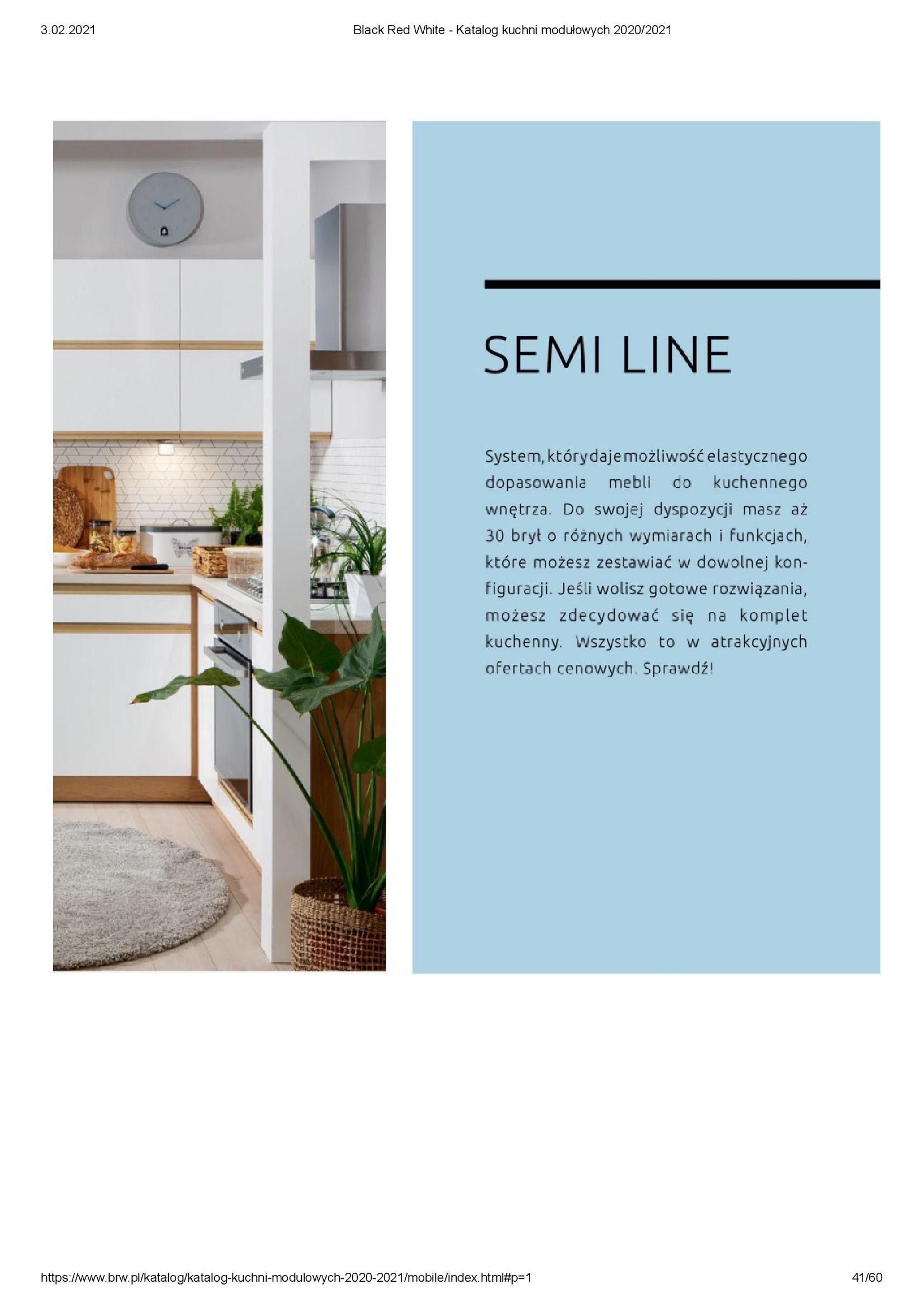 Gazetka Black Red White: Katalog - Kuchnie modułowe 2020/2021 2021-01-01 page-41