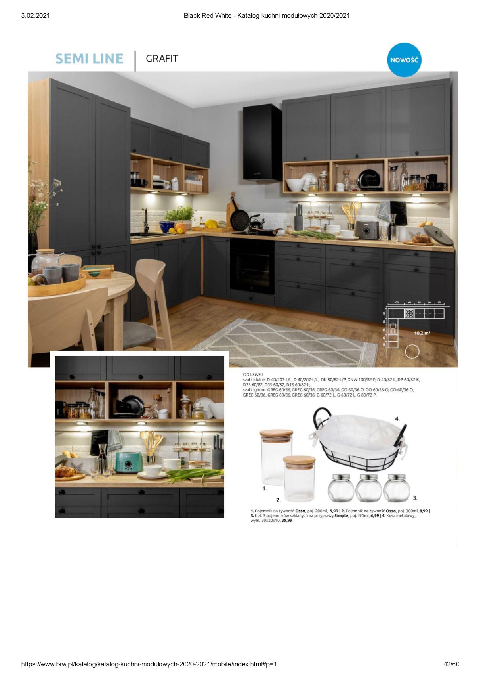 Gazetka Black Red White: Katalog - Kuchnie modułowe 2020/2021 2021-01-01 page-42