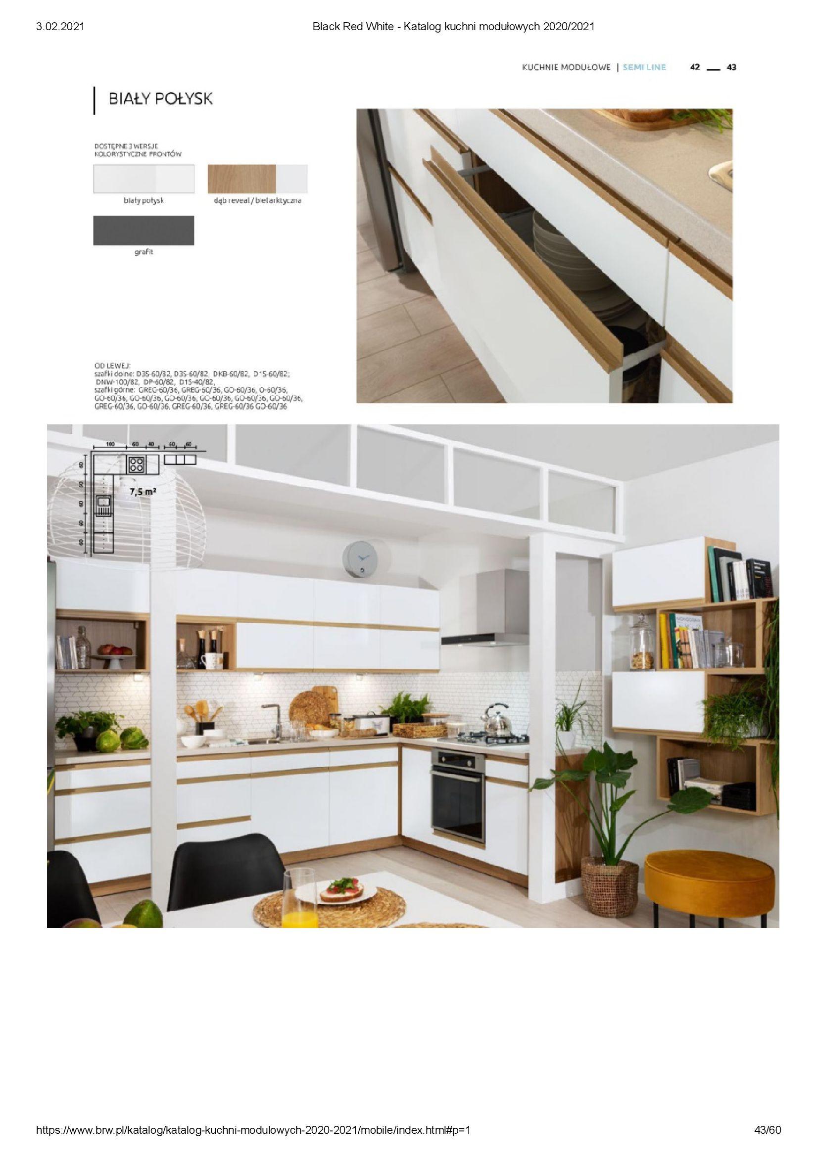 Gazetka Black Red White: Katalog - Kuchnie modułowe 2020/2021 2021-01-01 page-43