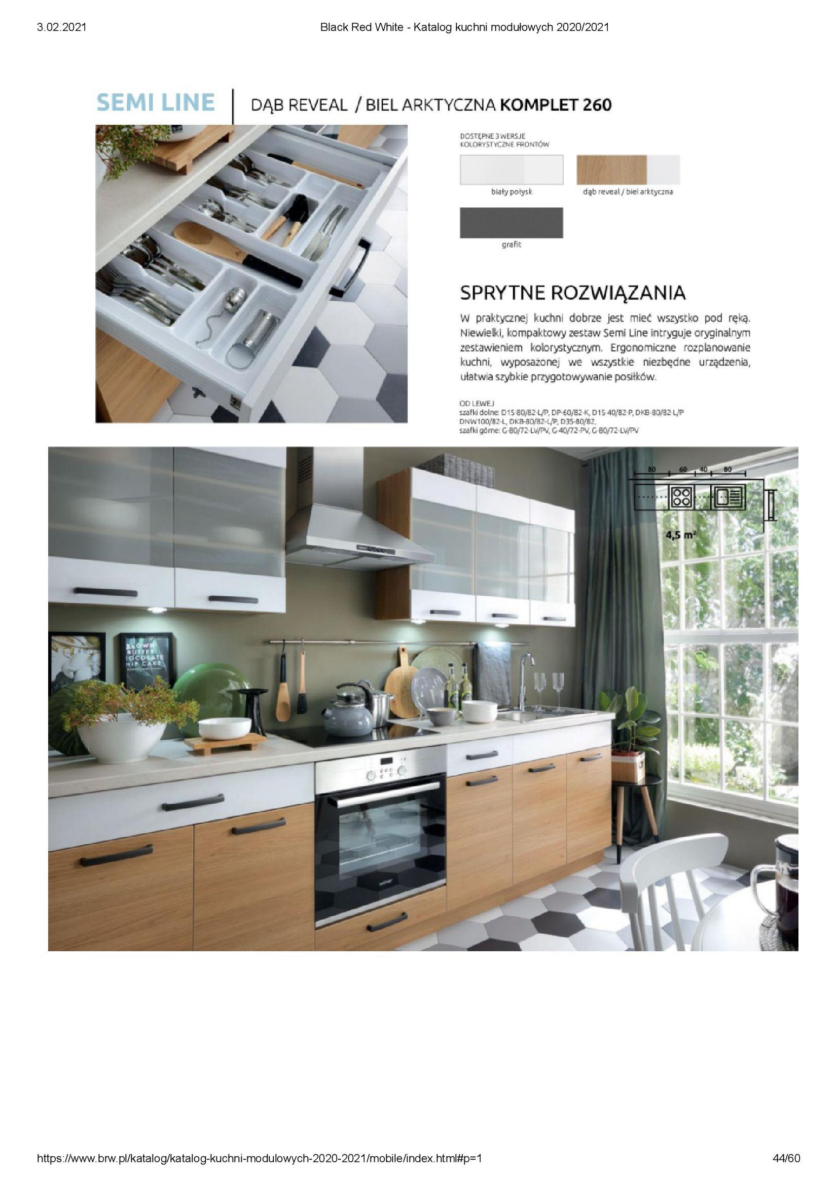Gazetka Black Red White: Katalog - Kuchnie modułowe 2020/2021 2021-01-01 page-44