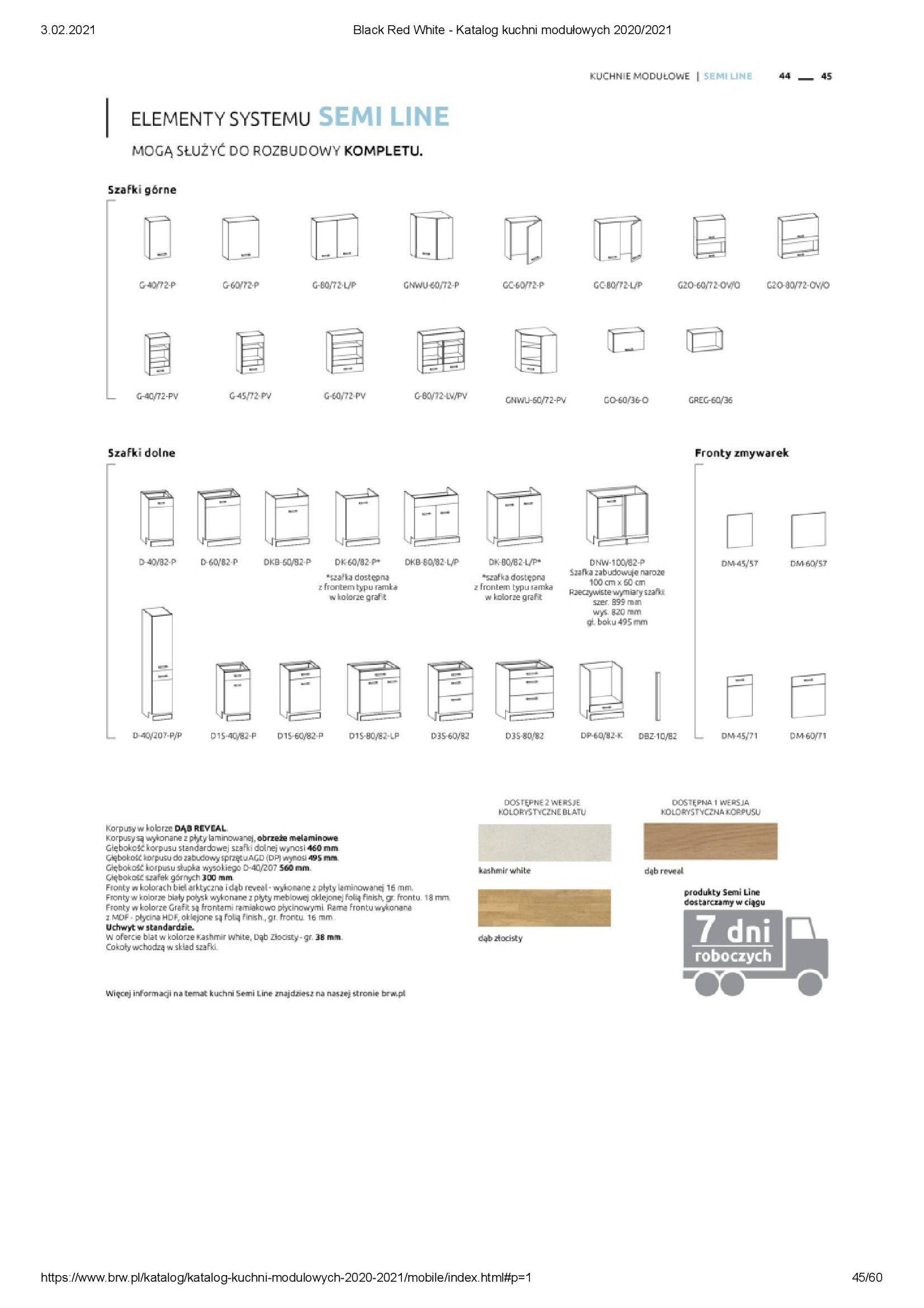 Gazetka Black Red White: Katalog - Kuchnie modułowe 2020/2021 2021-01-01 page-45