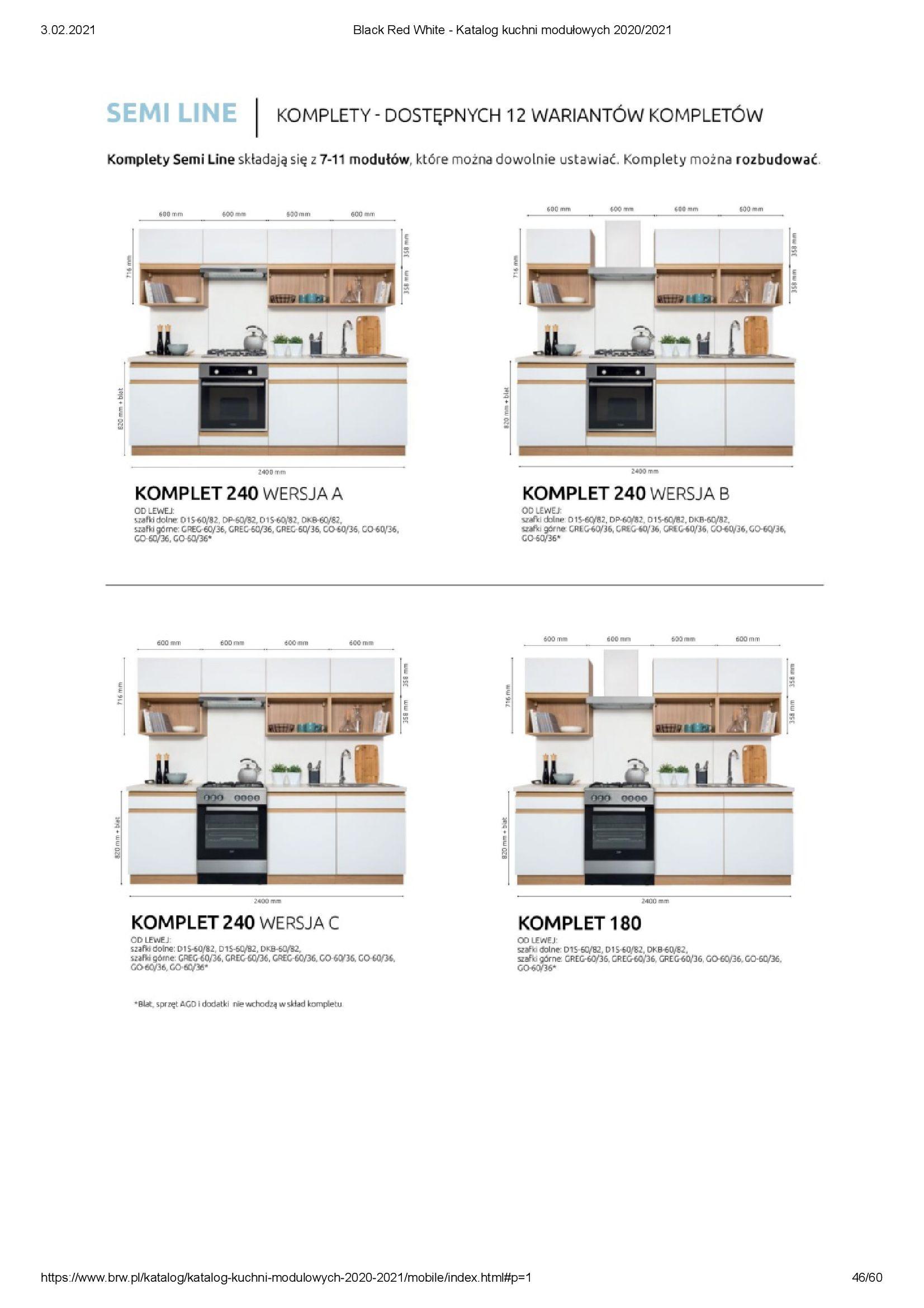 Gazetka Black Red White: Katalog - Kuchnie modułowe 2020/2021 2021-01-01 page-46