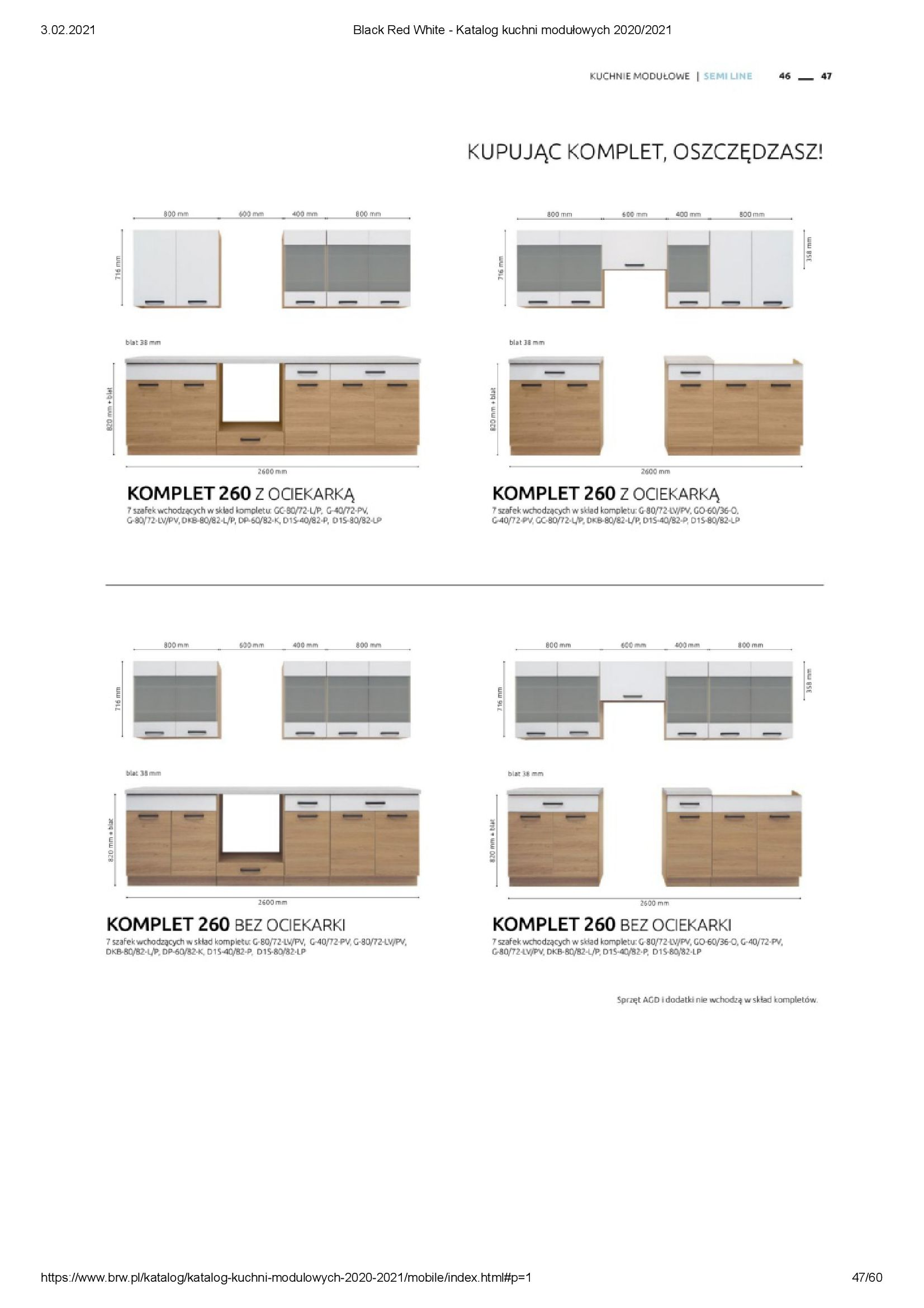 Gazetka Black Red White: Katalog - Kuchnie modułowe 2020/2021 2021-01-01 page-47