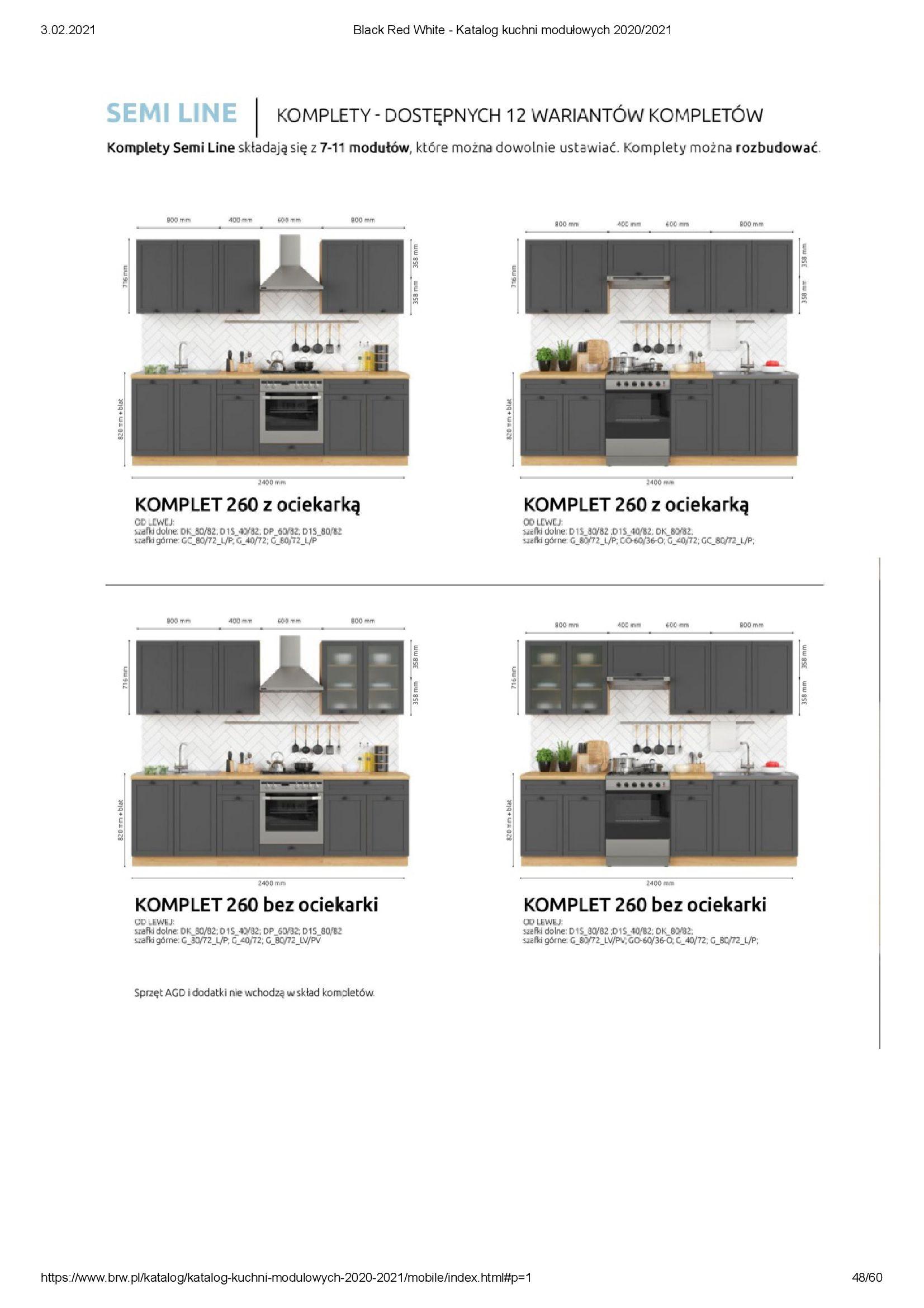 Gazetka Black Red White: Katalog - Kuchnie modułowe 2020/2021 2021-01-01 page-48