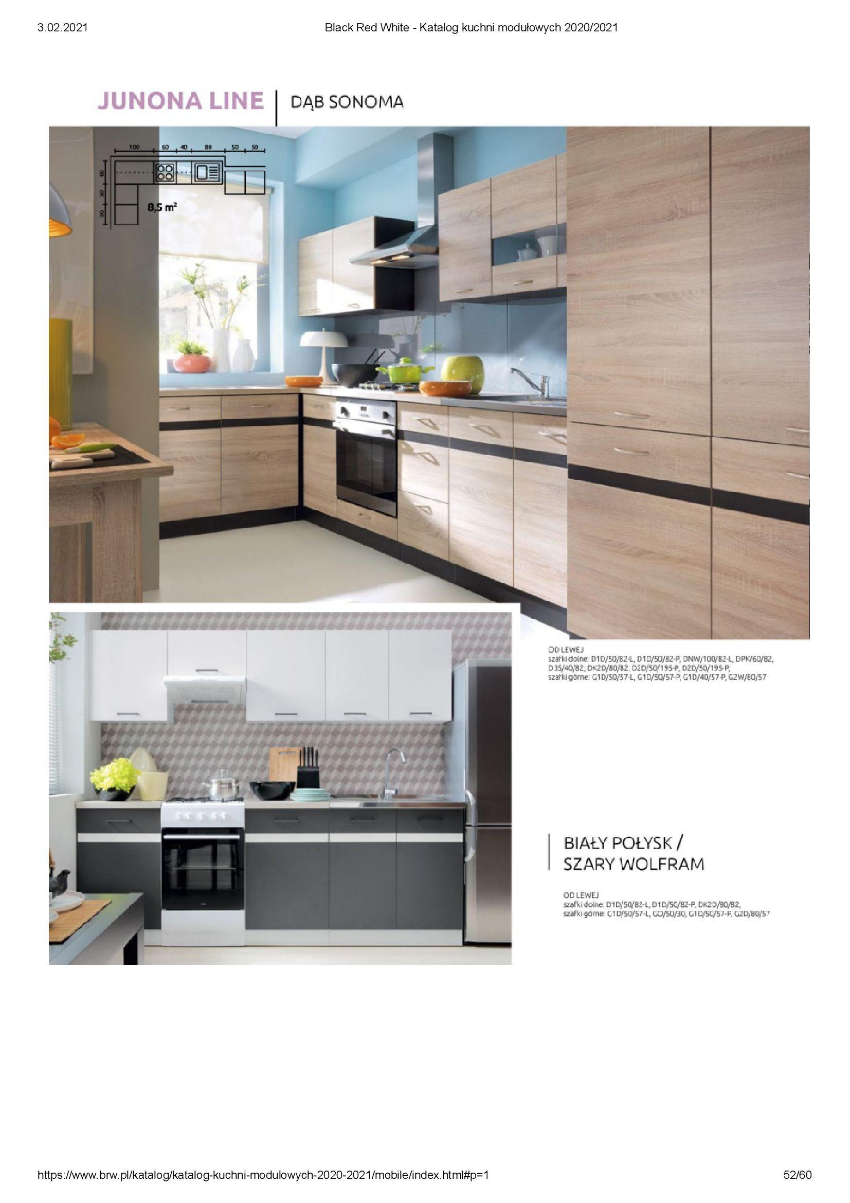 Gazetka Black Red White: Katalog - Kuchnie modułowe 2020/2021 2021-01-01 page-52