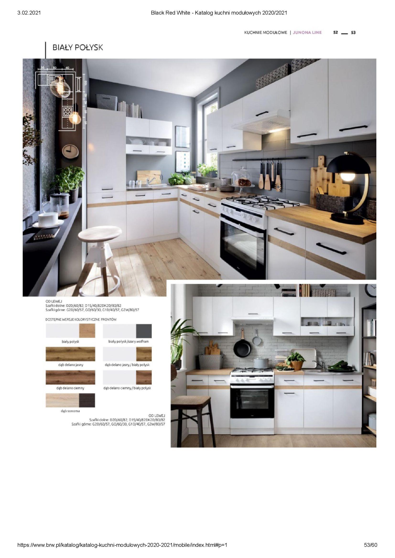 Gazetka Black Red White: Katalog - Kuchnie modułowe 2020/2021 2021-01-01 page-53