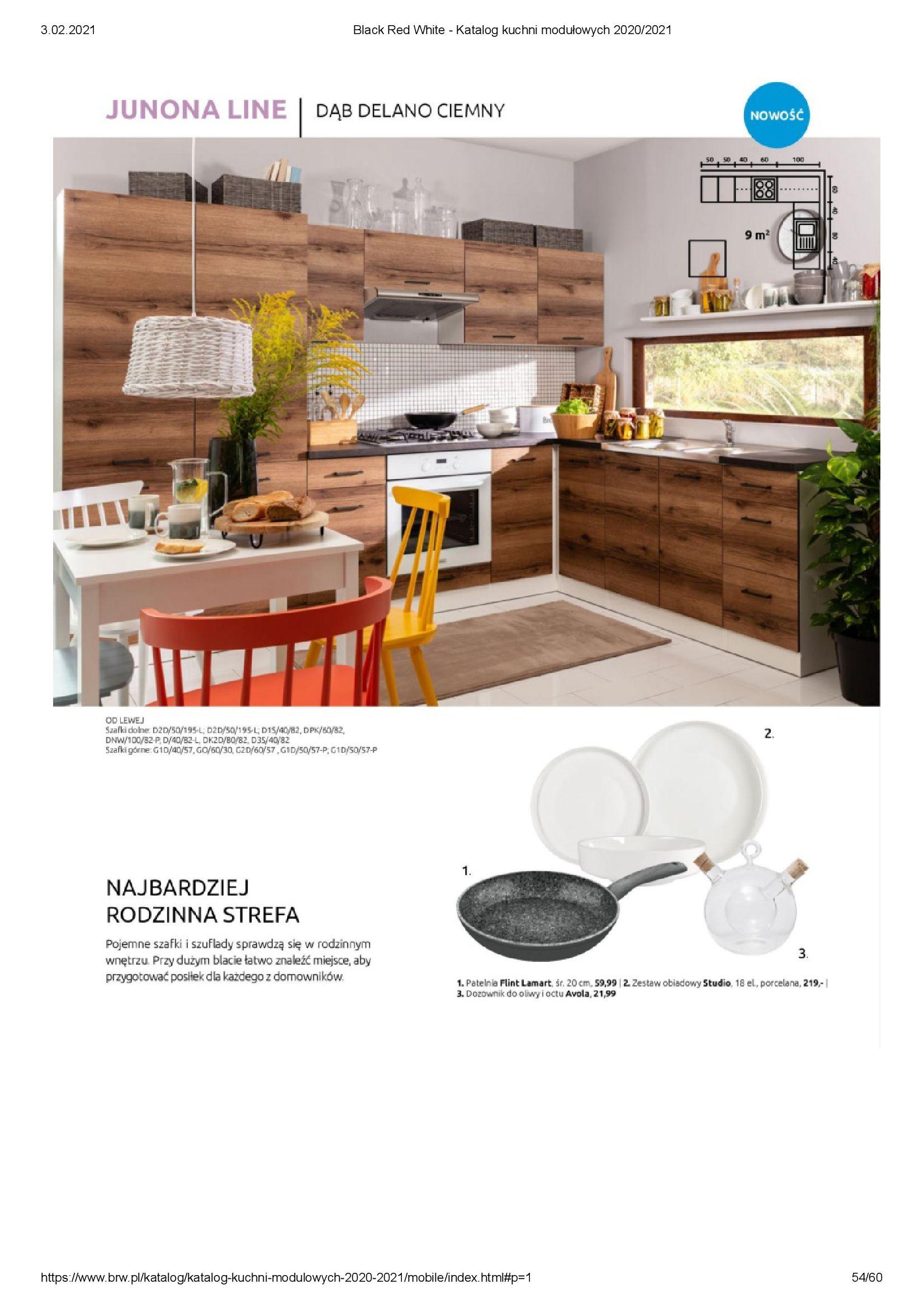 Gazetka Black Red White: Katalog - Kuchnie modułowe 2020/2021 2021-01-01 page-54
