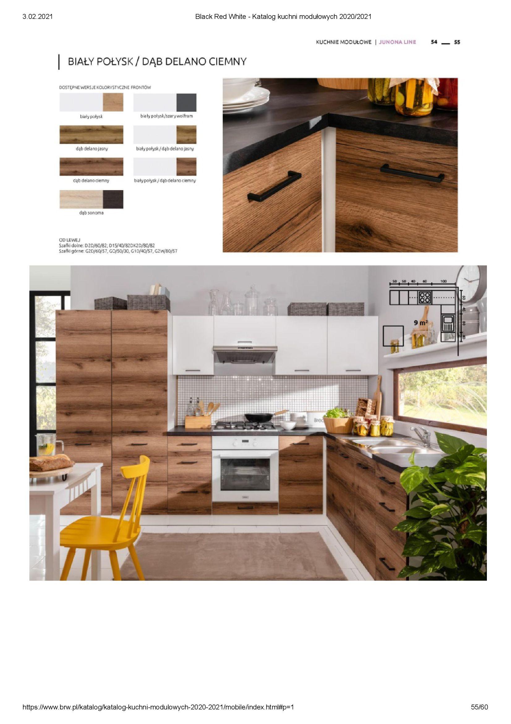 Gazetka Black Red White: Katalog - Kuchnie modułowe 2020/2021 2021-01-01 page-55