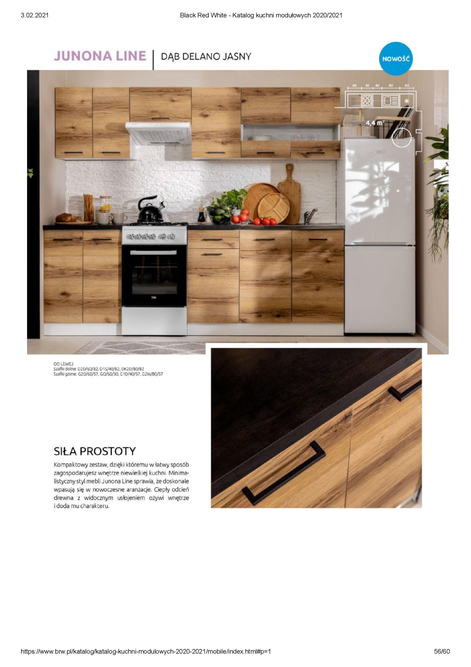 Gazetka Black Red White: Katalog - Kuchnie modułowe 2020/2021 2021-01-01 page-56