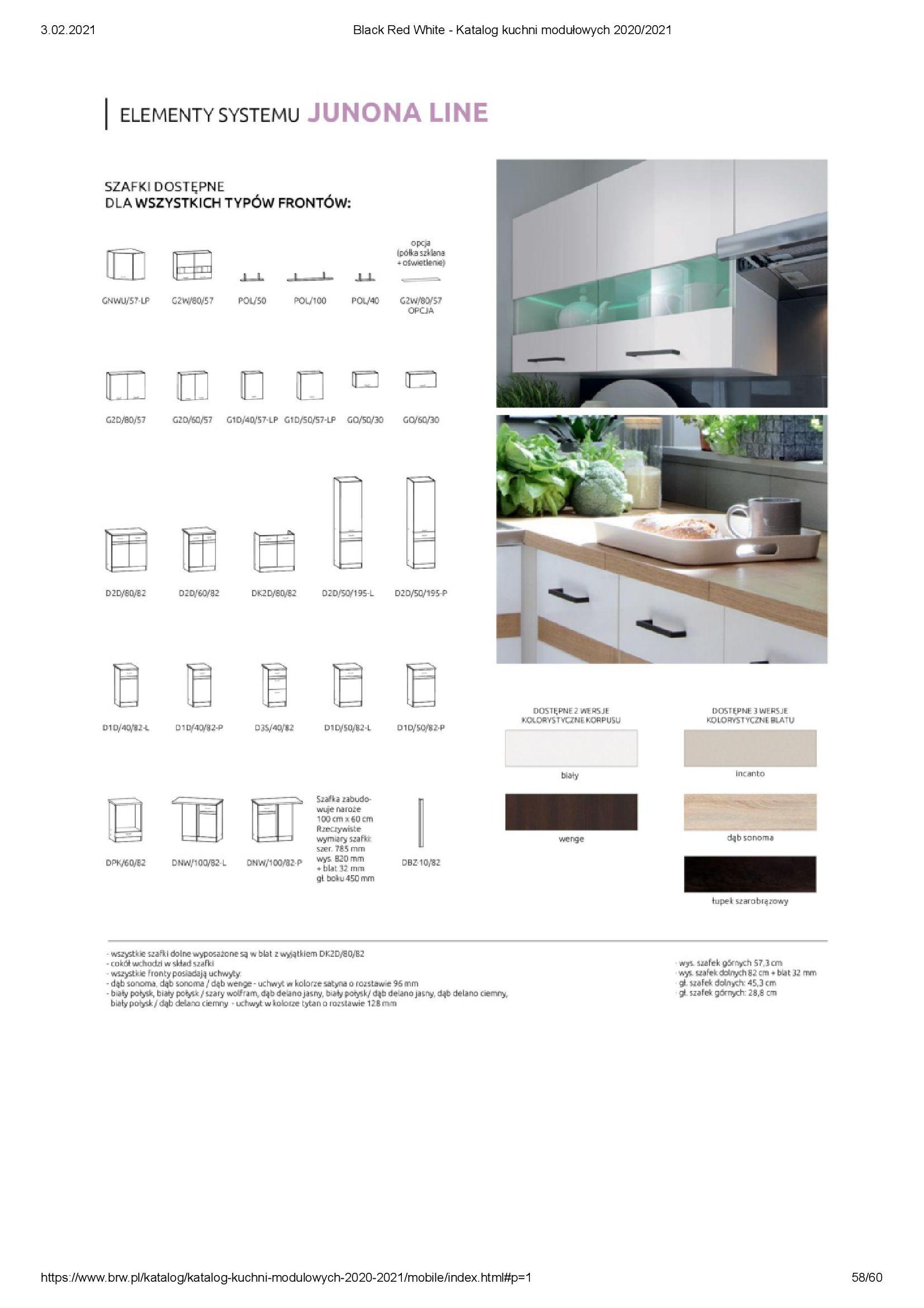 Gazetka Black Red White: Katalog - Kuchnie modułowe 2020/2021 2021-01-01 page-58