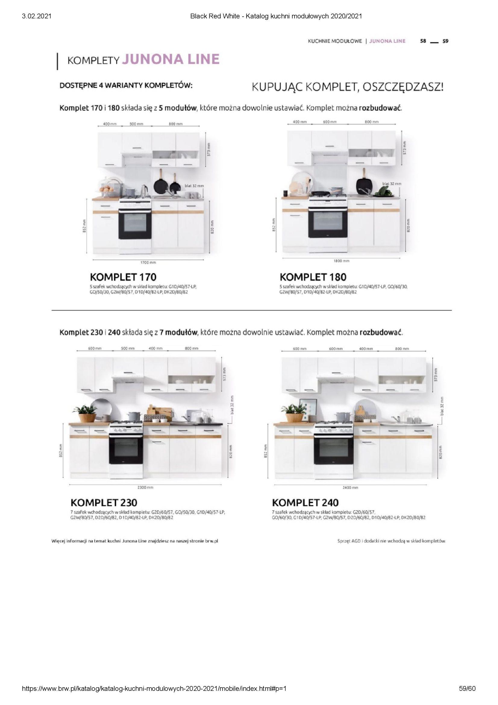Gazetka Black Red White: Katalog - Kuchnie modułowe 2020/2021 2021-01-01 page-59
