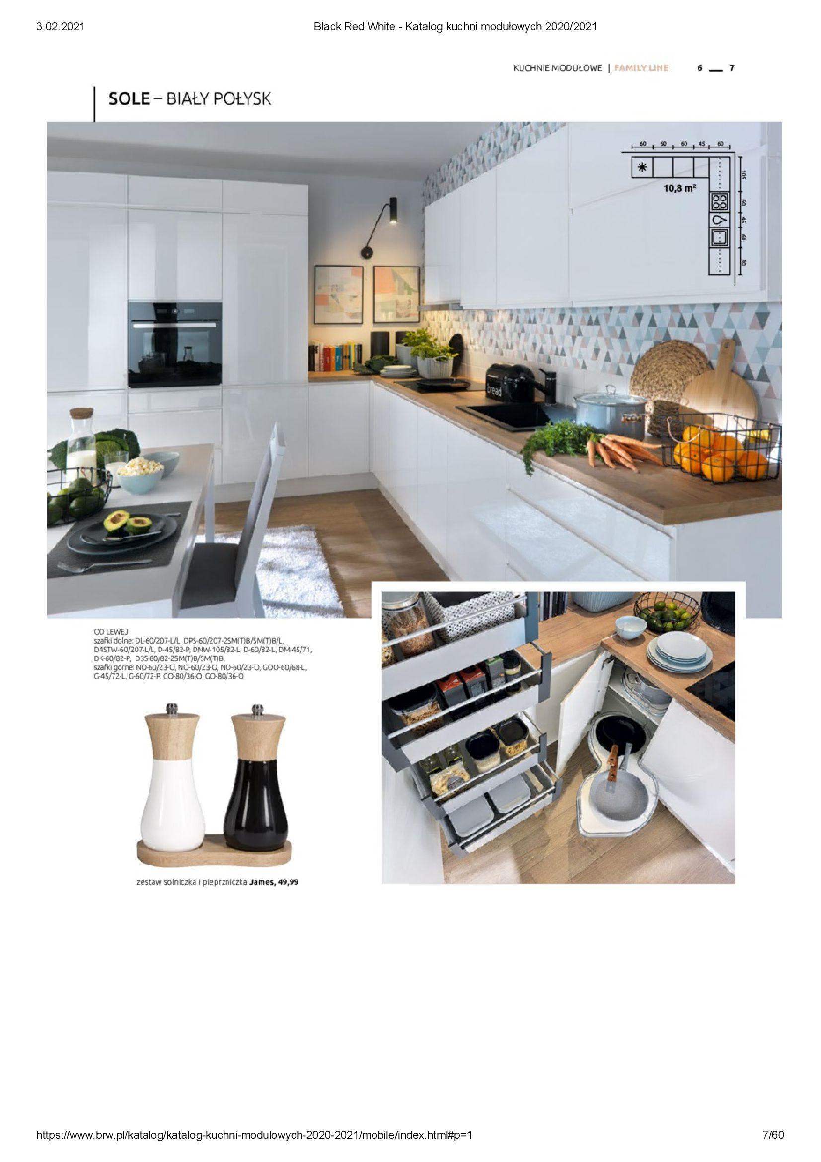 Gazetka Black Red White: Katalog - Kuchnie modułowe 2020/2021 2021-01-01 page-7