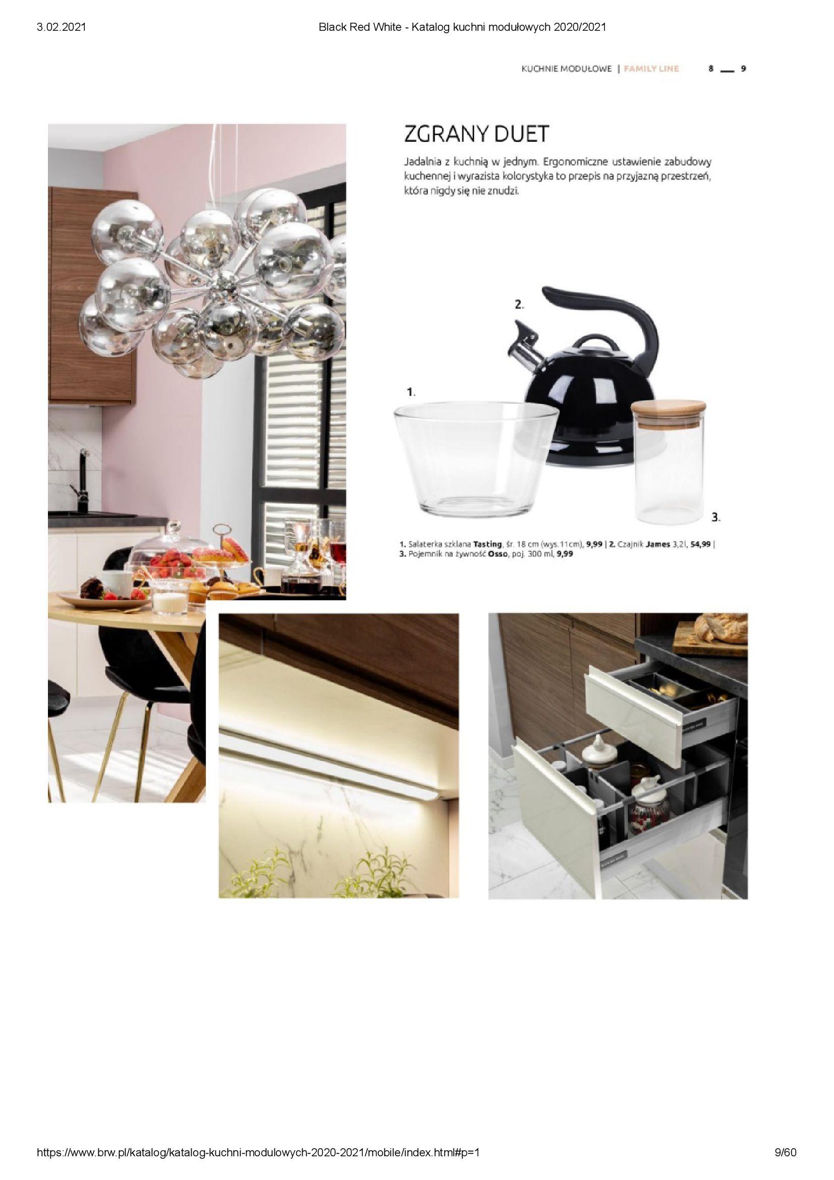 Gazetka Black Red White: Katalog - Kuchnie modułowe 2020/2021 2021-01-01 page-9