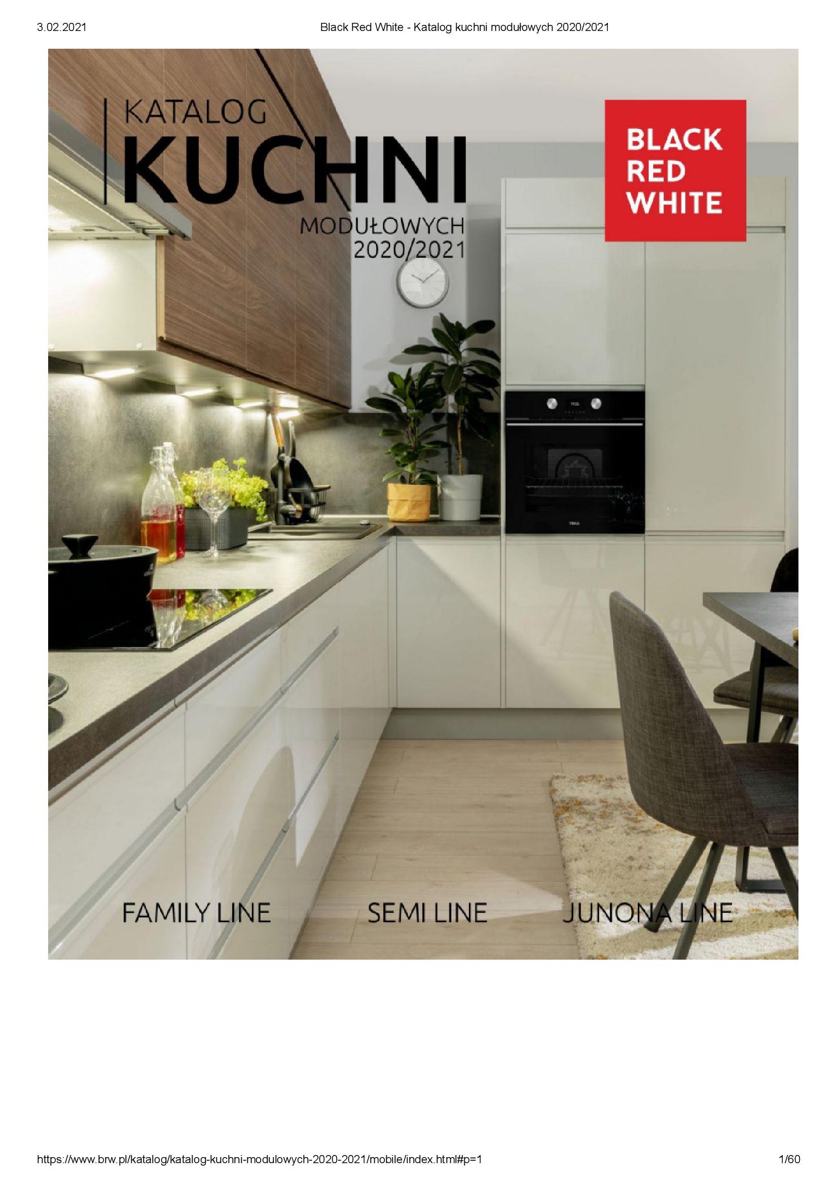 Black Red White:  Katalog - Kuchnie modułowe 2020/2021 31.12.2020