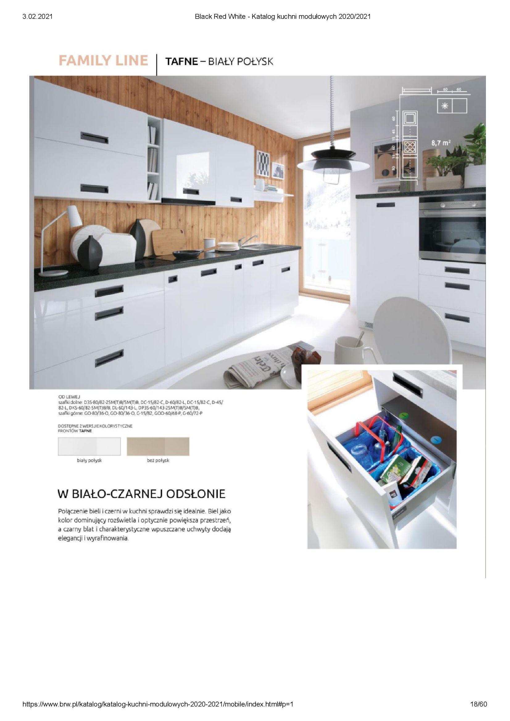Gazetka Black Red White: Katalog - Kuchnie modułowe 2020/2021 2021-01-01 page-18