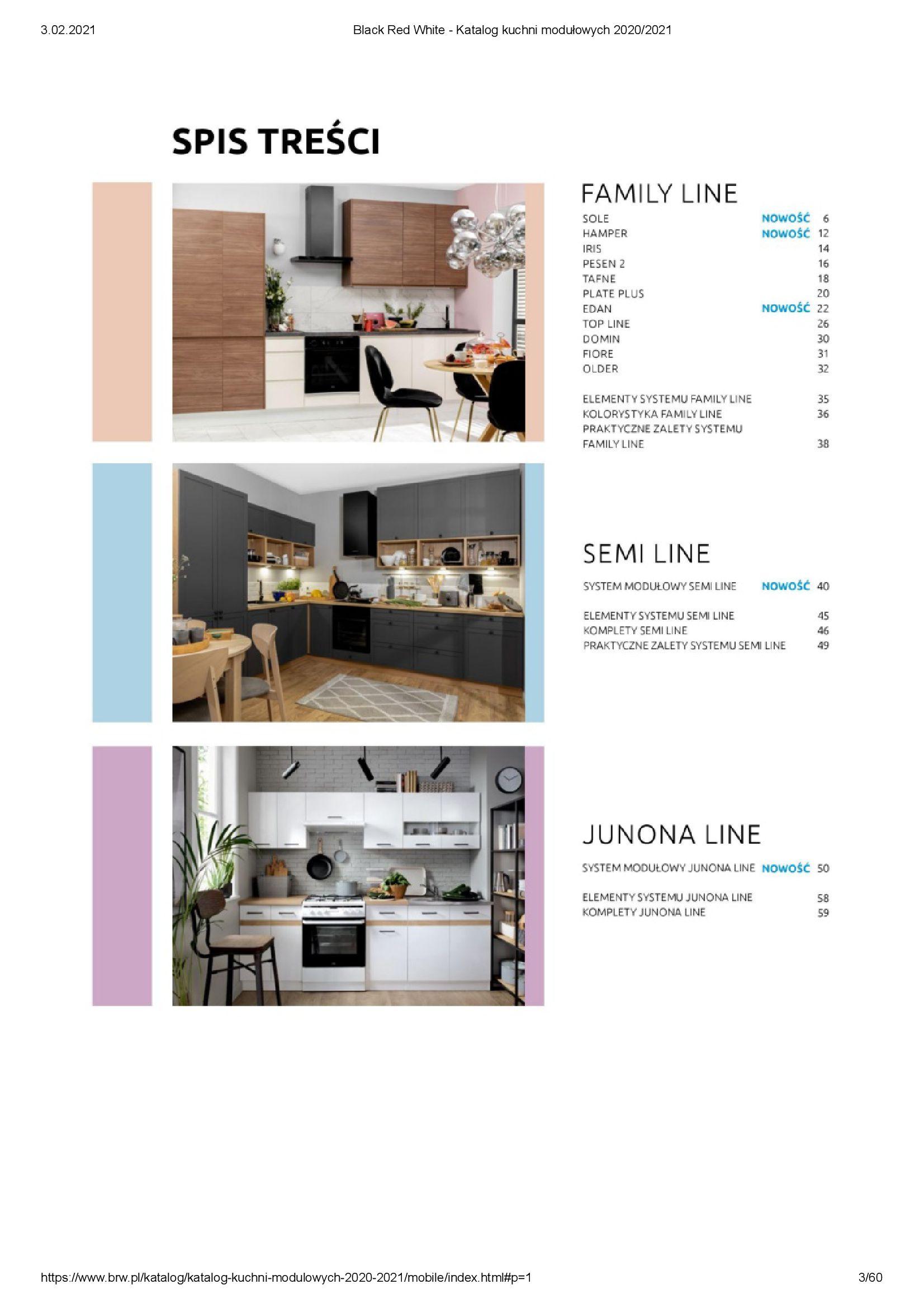 Gazetka Black Red White: Katalog - Kuchnie modułowe 2020/2021 2021-01-01 page-3
