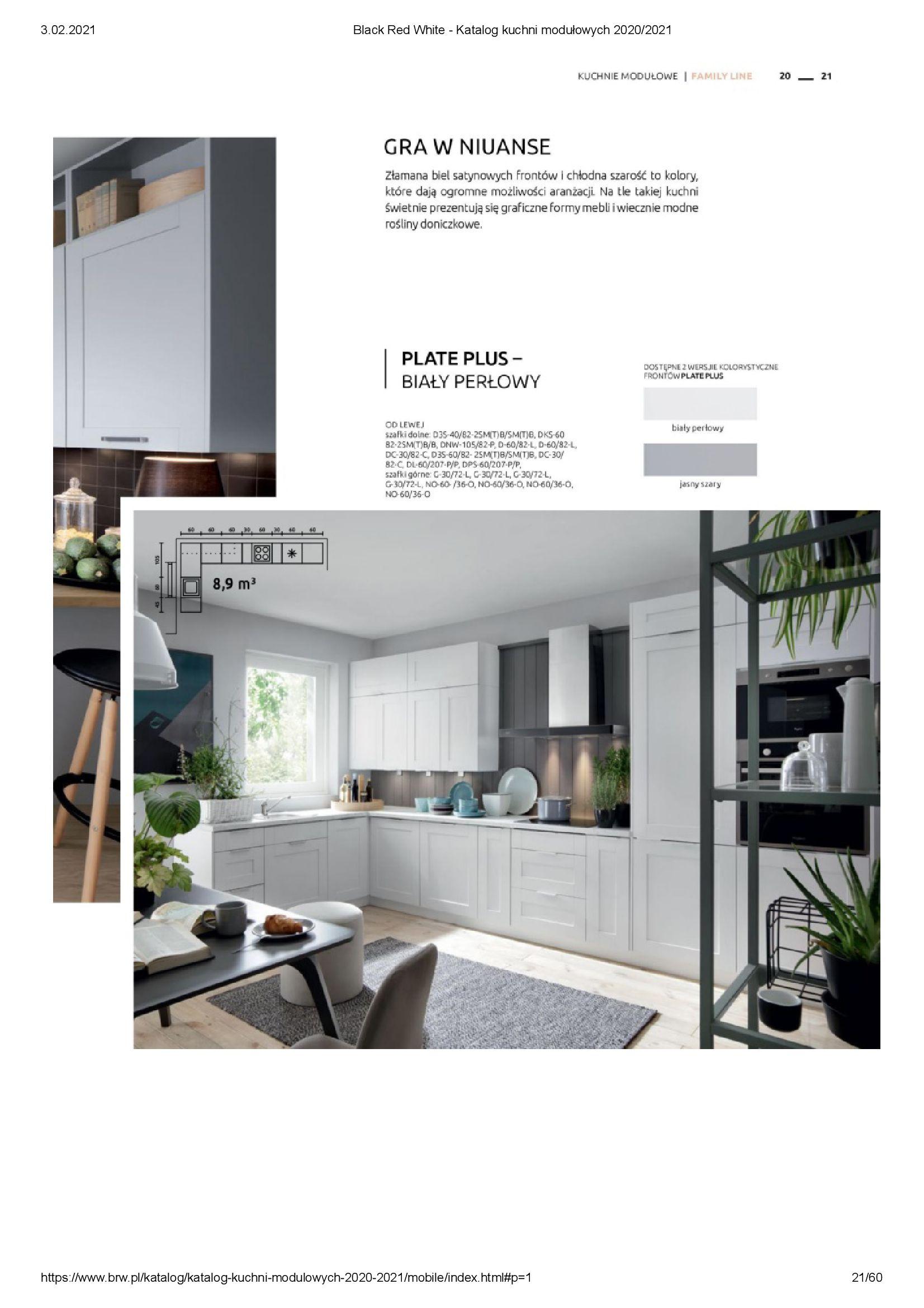 Gazetka Black Red White: Katalog - Kuchnie modułowe 2020/2021 2021-01-01 page-21