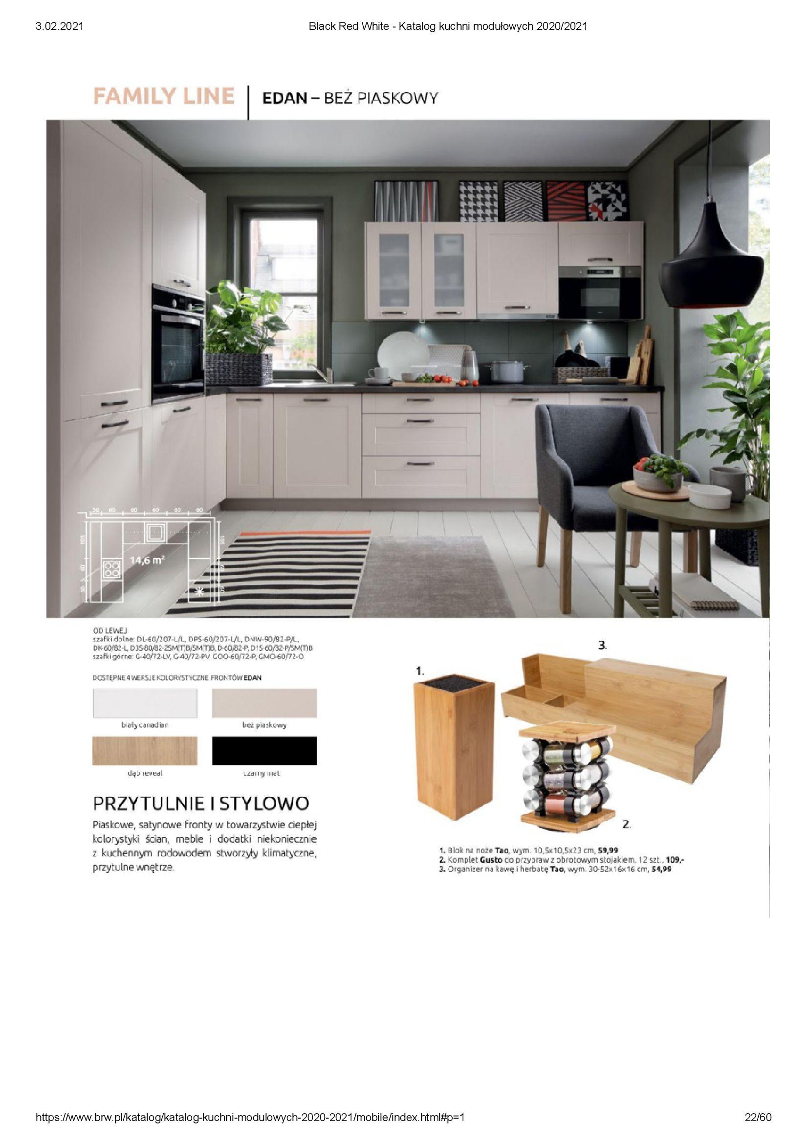 Gazetka Black Red White: Katalog - Kuchnie modułowe 2020/2021 2021-01-01 page-22